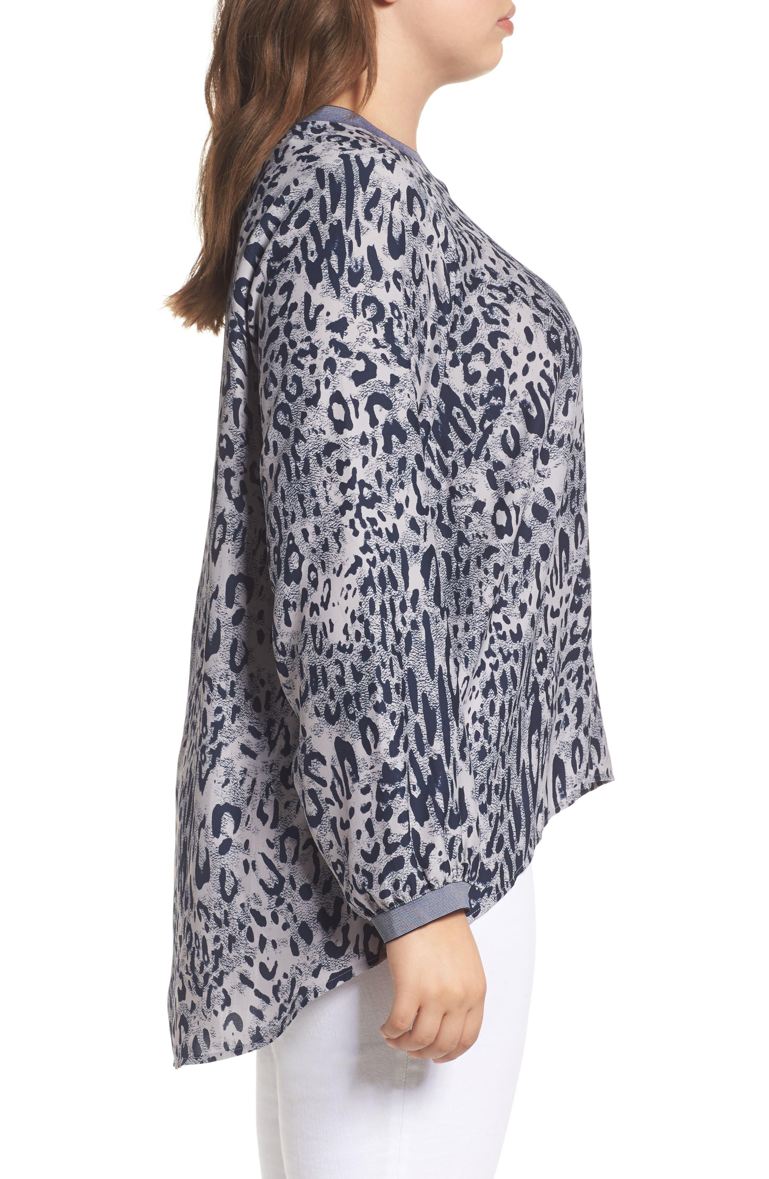 Alternate Image 3  - Melissa McCarthy Seven7 Leopard Print Raglan Blouse (Plus Size)