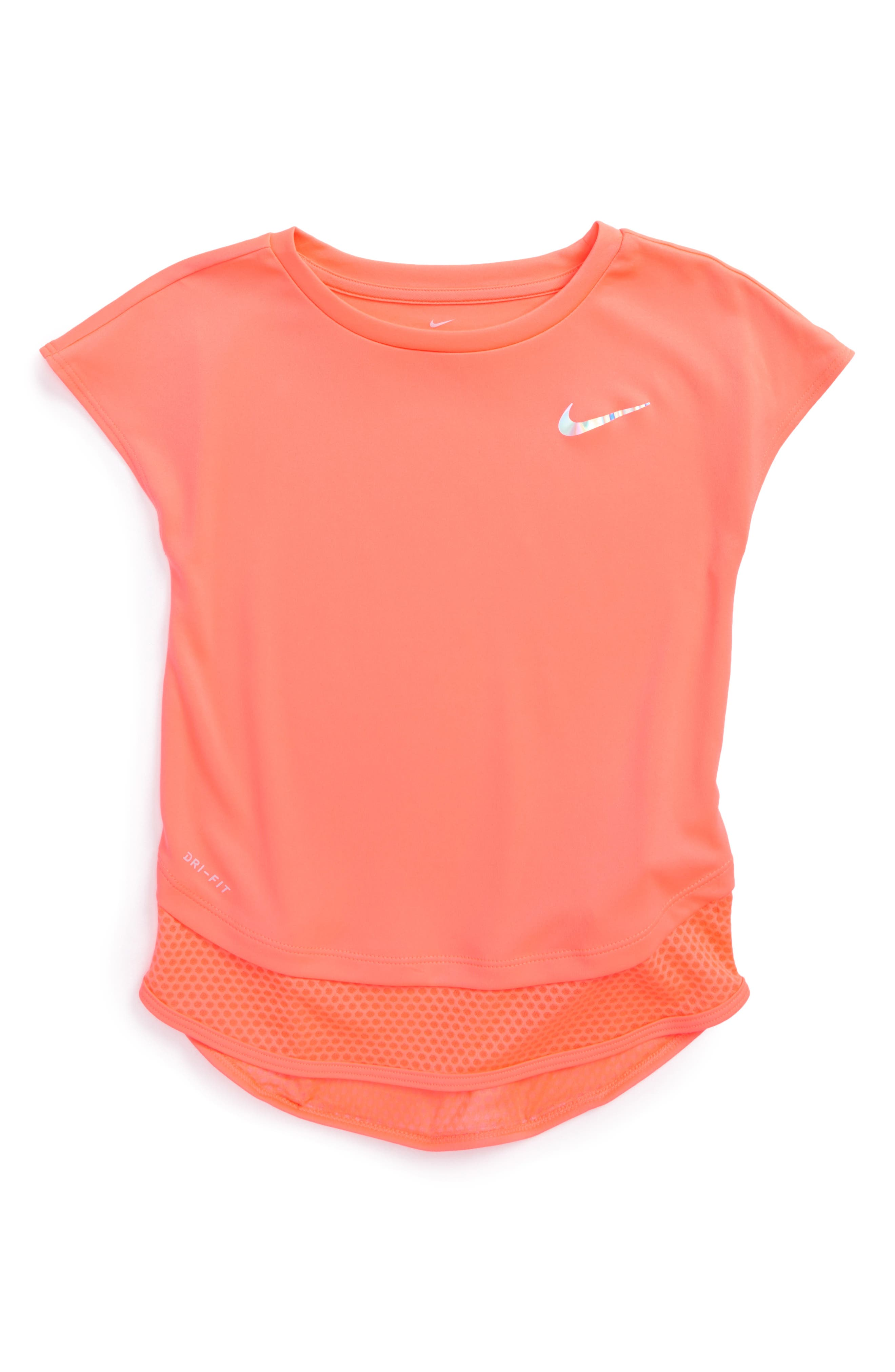 Alternate Image 1 Selected - Nike Dry Modern Tunic (Toddler Girls & Little Girls)