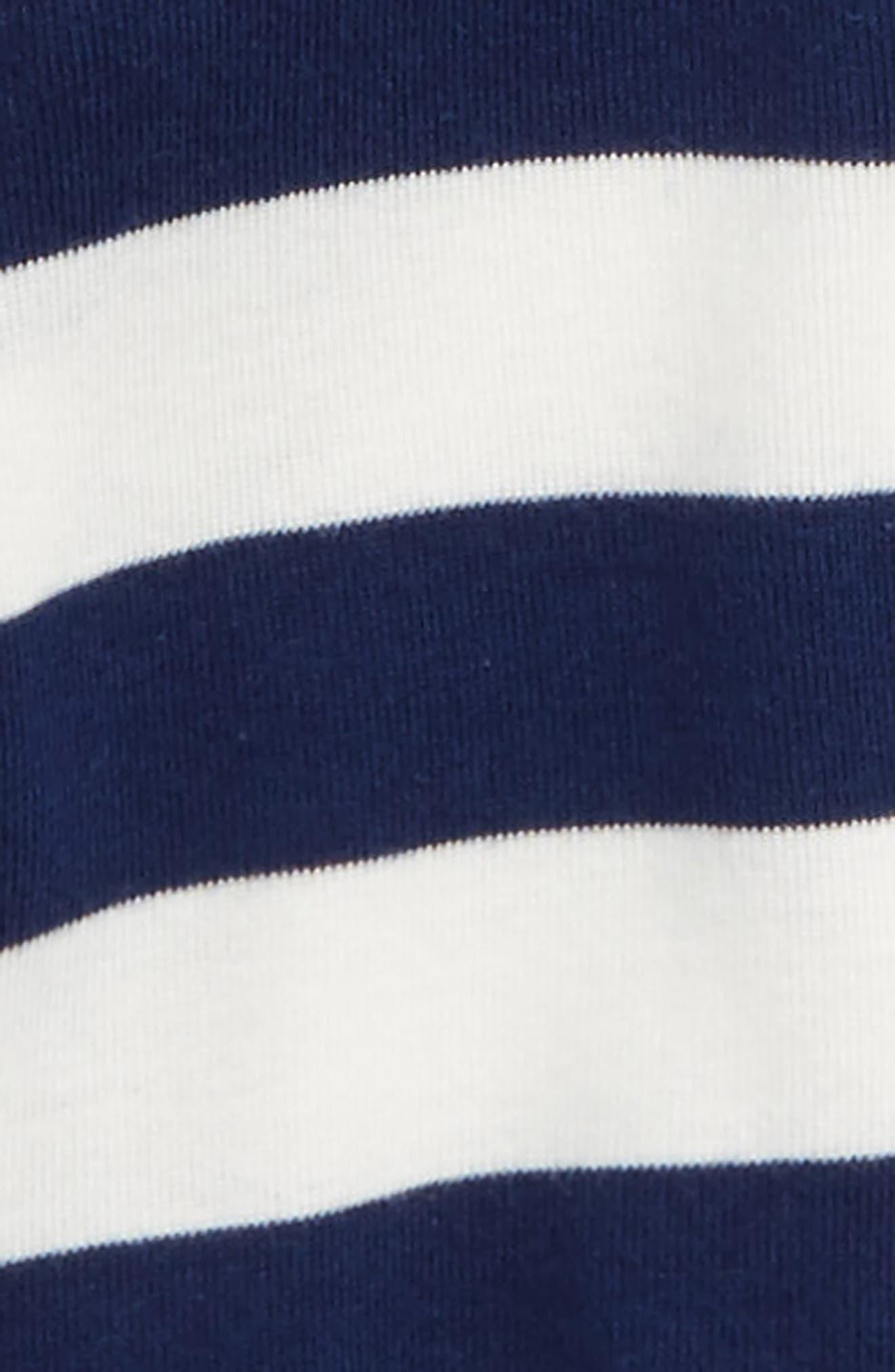 Stripe Footie & Hat,                             Alternate thumbnail 2, color,                             Navy Stripe
