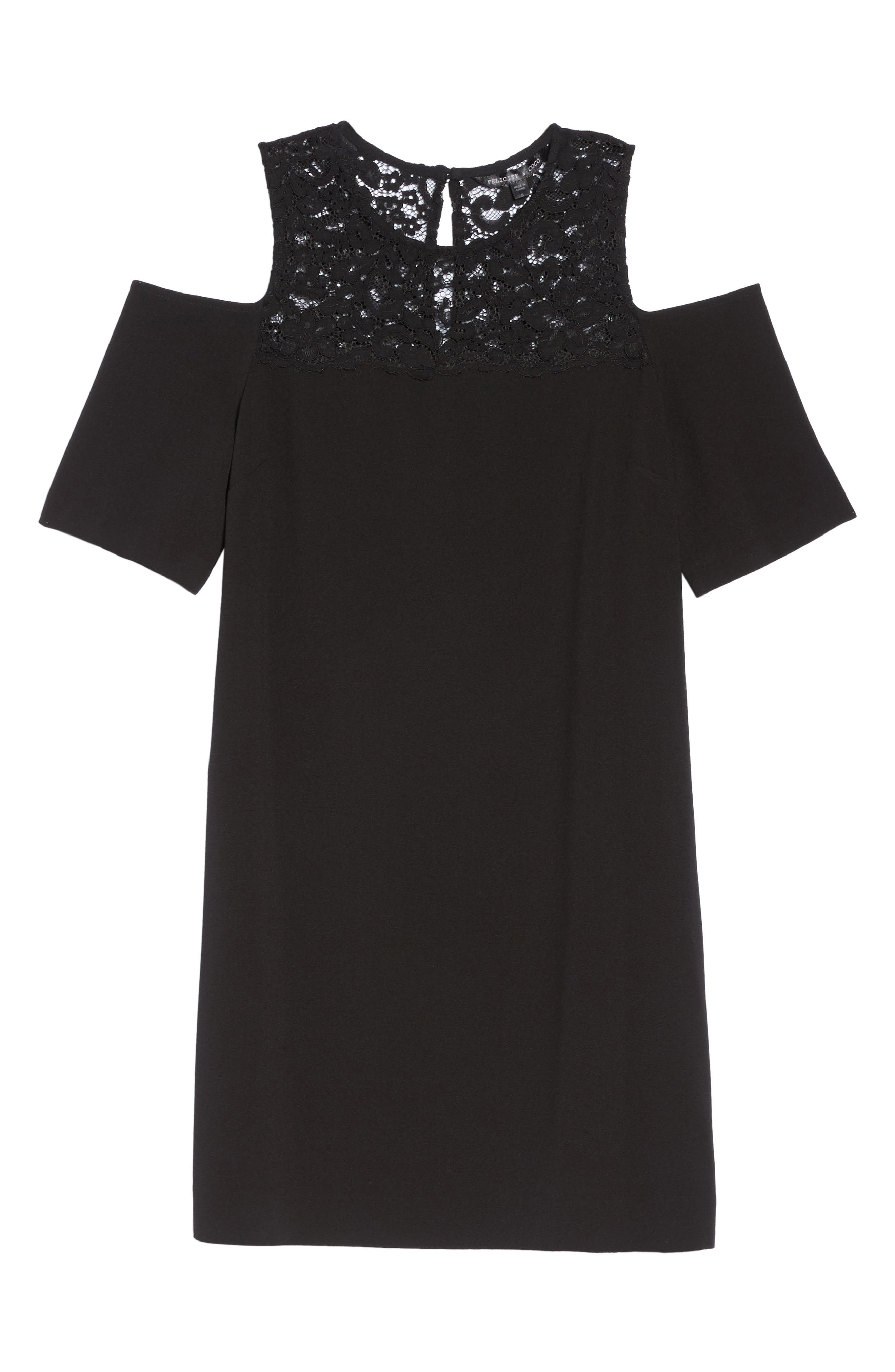 Alternate Image 6  - Felicity & Coco Jess Cold Shoulder Lace Dress