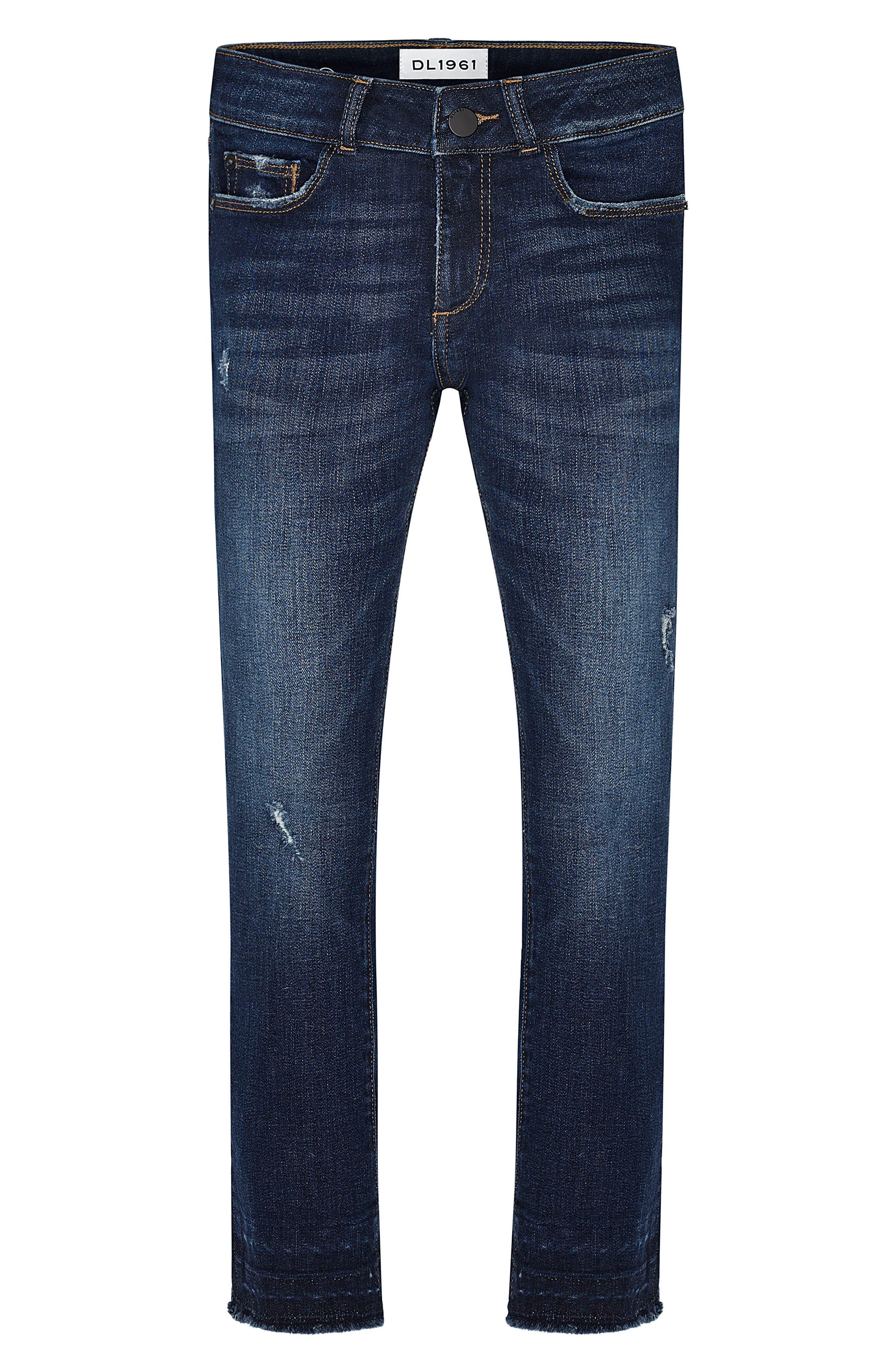 DL1961 Chloe Distressed Skinny Jeans (Big Girls)