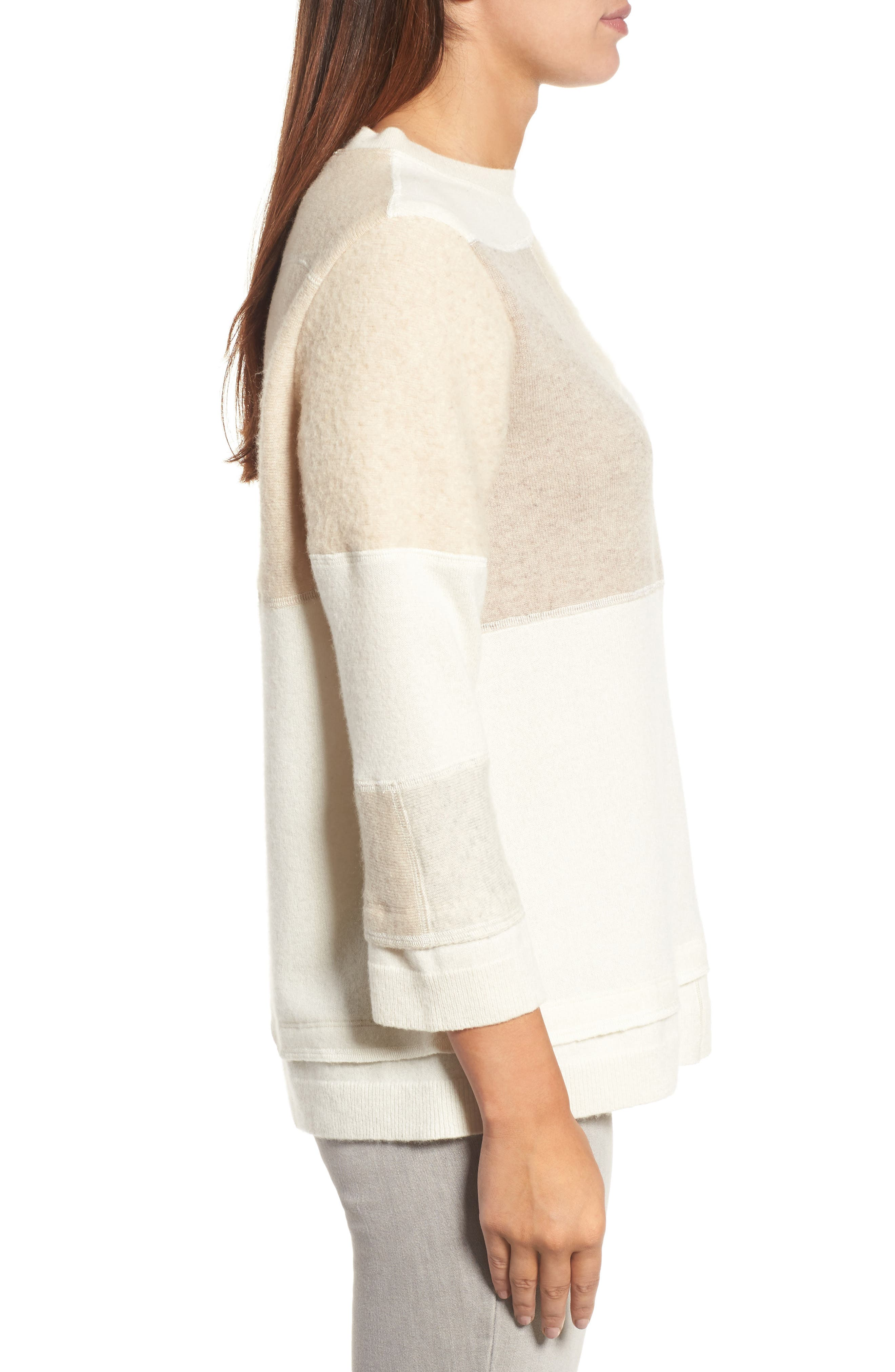 Alternate Image 3  - Eileen Fisher Colorblock Cashmere Sweater (Nordstrom Exclusive)