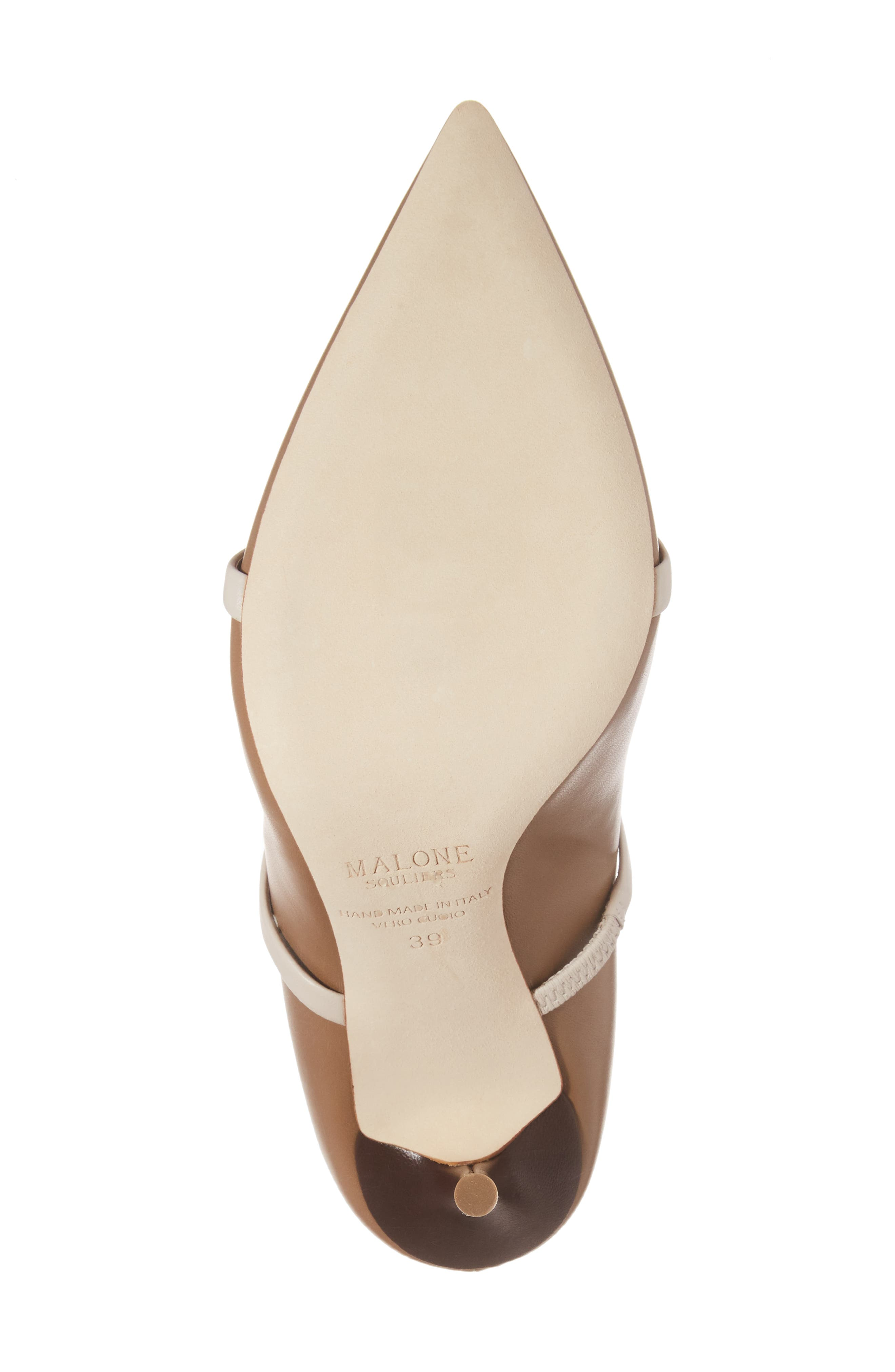Maureen Double Band Pump,                             Alternate thumbnail 6, color,                             Chocolate/ White Leather