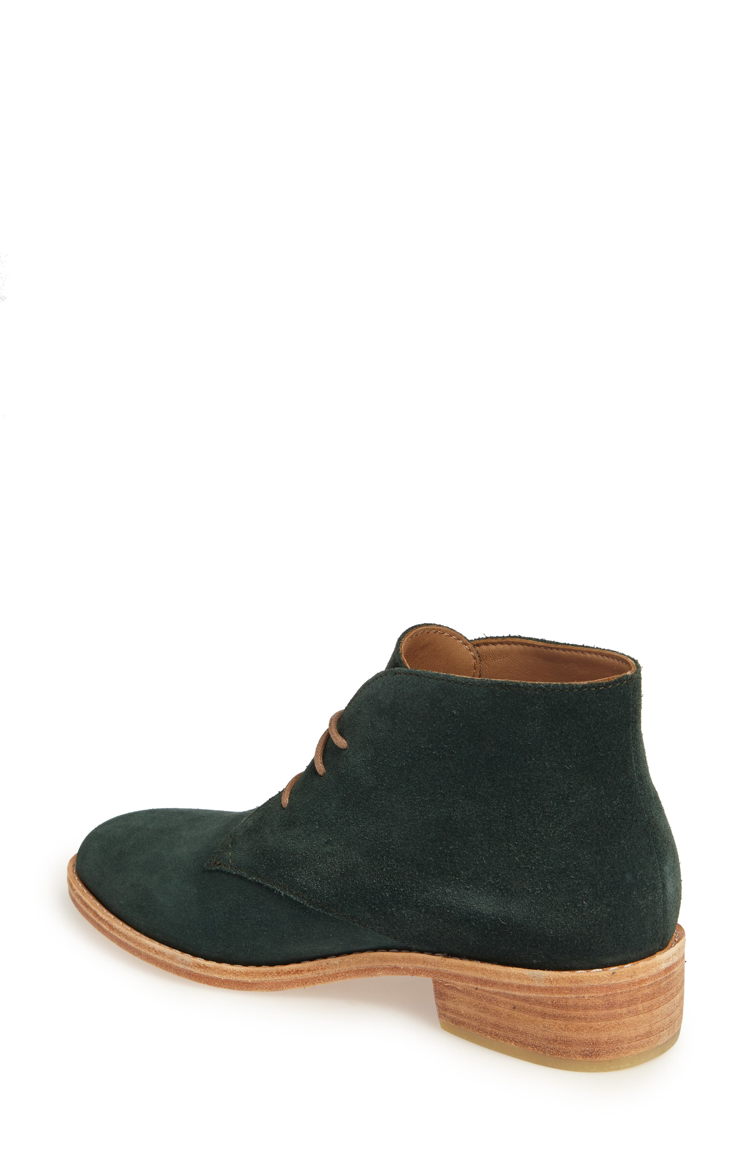 Manuela Chukka Boot,                             Alternate thumbnail 2, color,                             Forest Green Suede