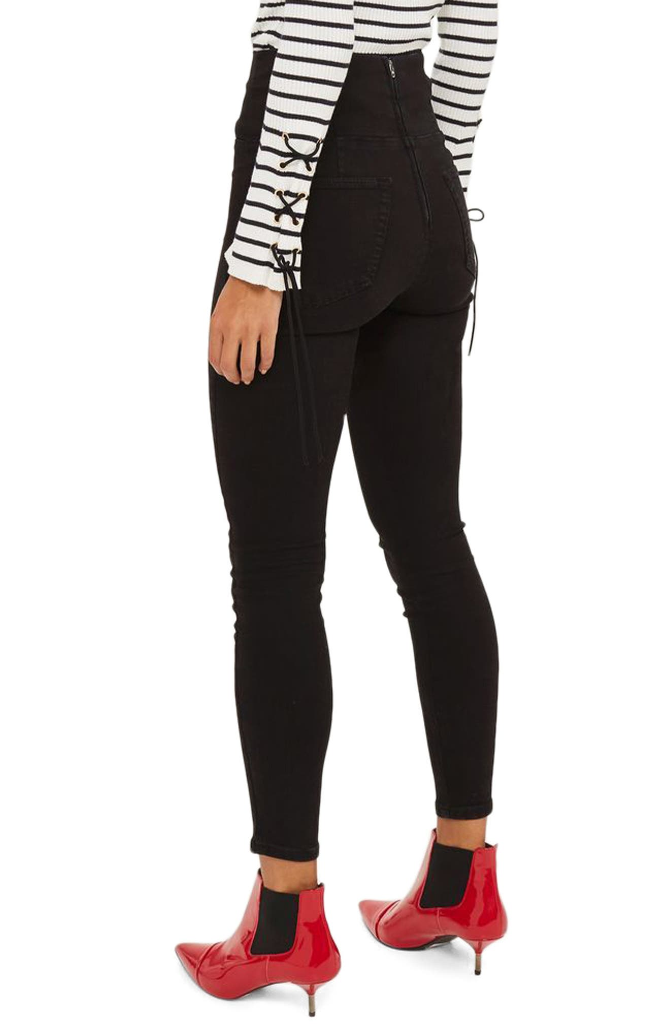 Alternate Image 2  - Topshop Jamie Corset High Waist Skinny Jeans