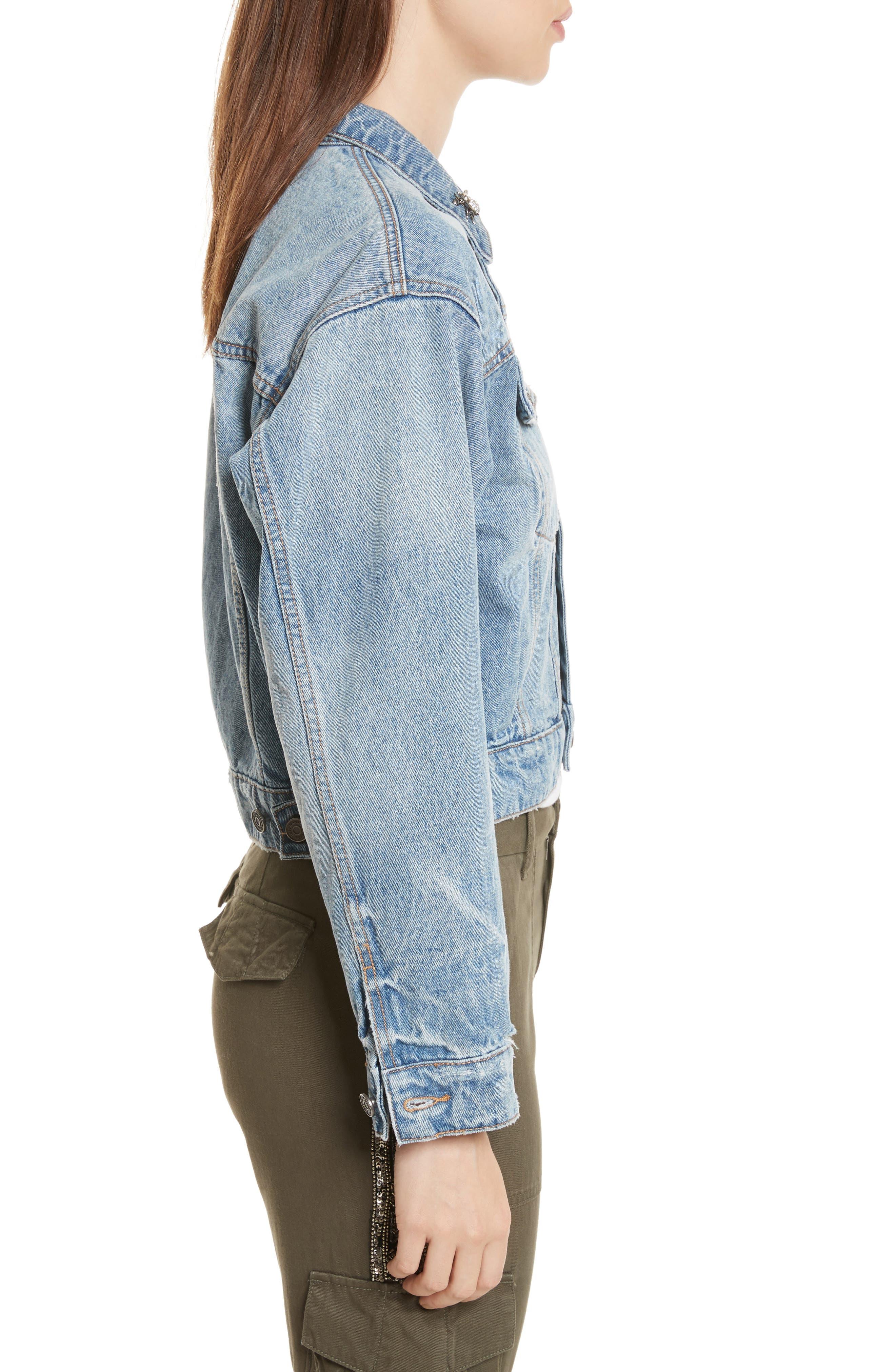 Redmondia Denim Jacket,                             Alternate thumbnail 3, color,                             Azzurro
