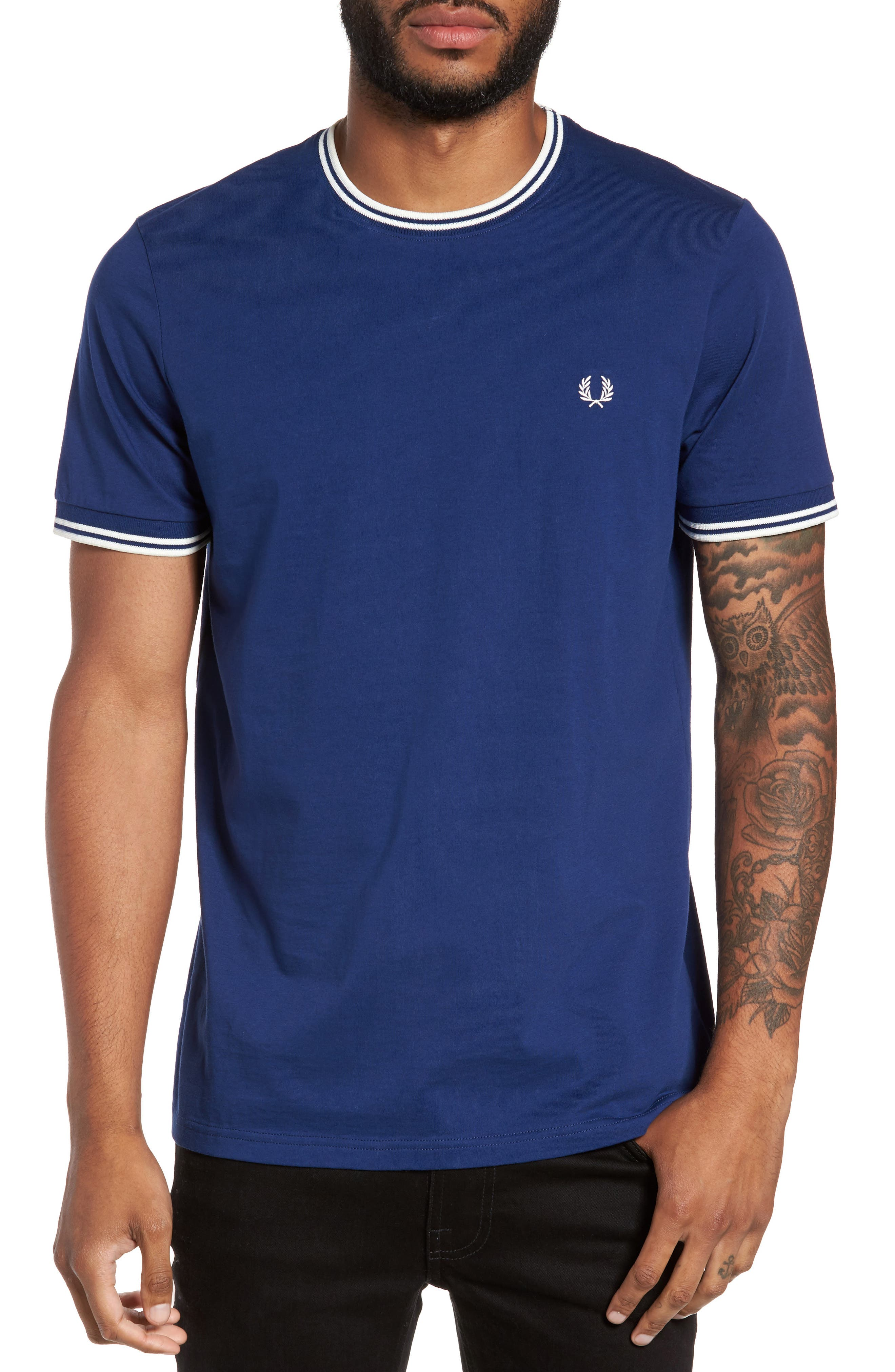 Main Image - Fred Perry Contrast Trim T-Shirt