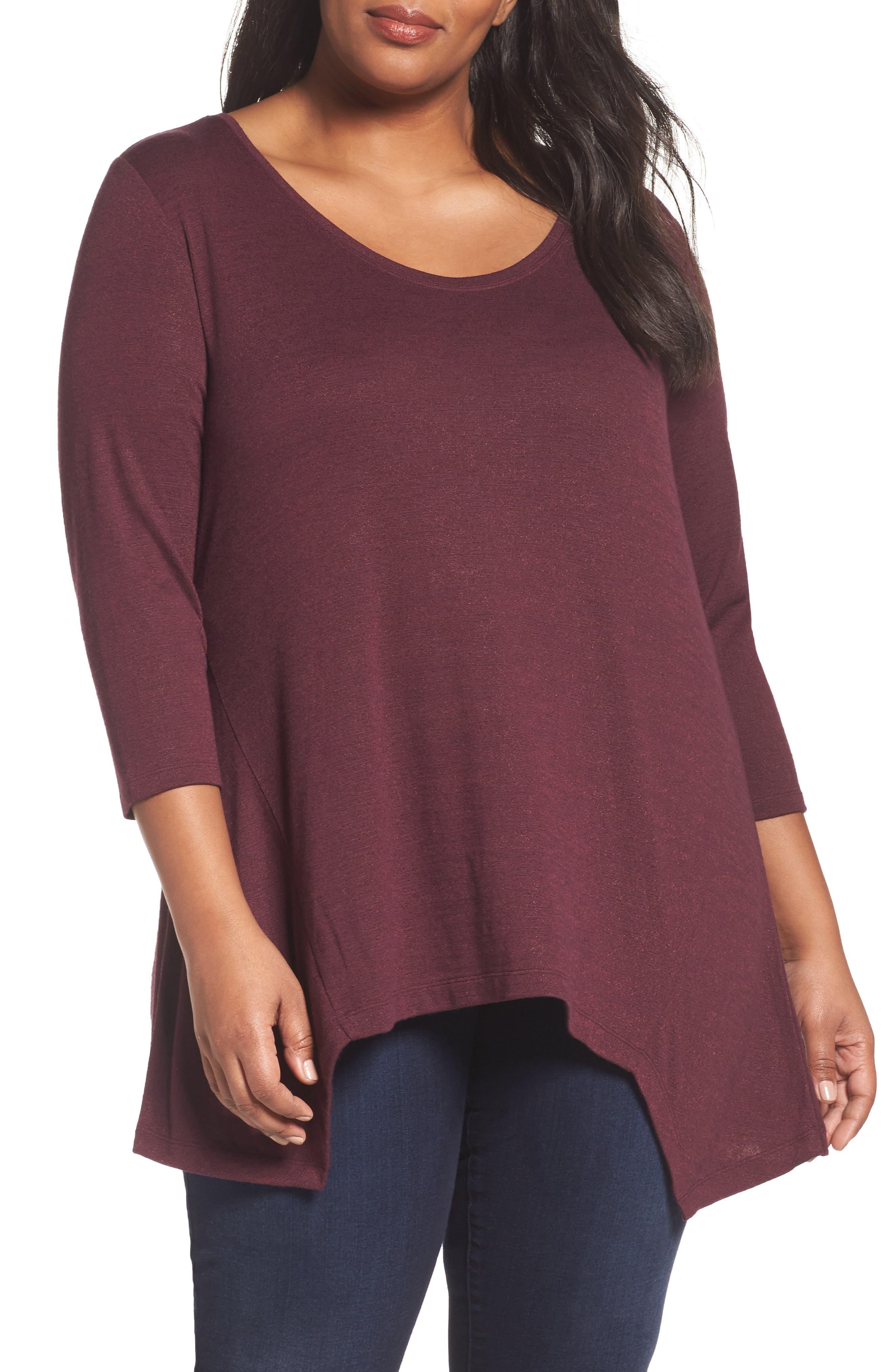 Sejour V-Neck Tunic (Plus Size)