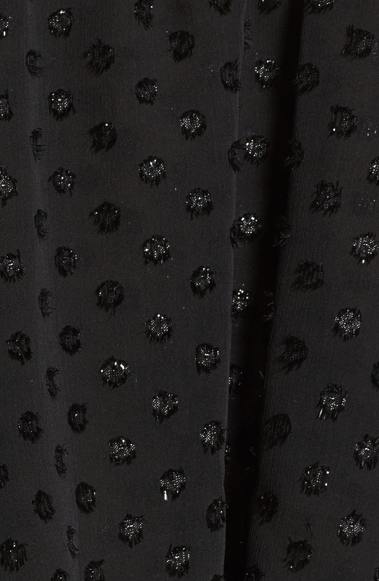 Roland Off the Shoulder Lace Blouse,                             Alternate thumbnail 5, color,                             Black