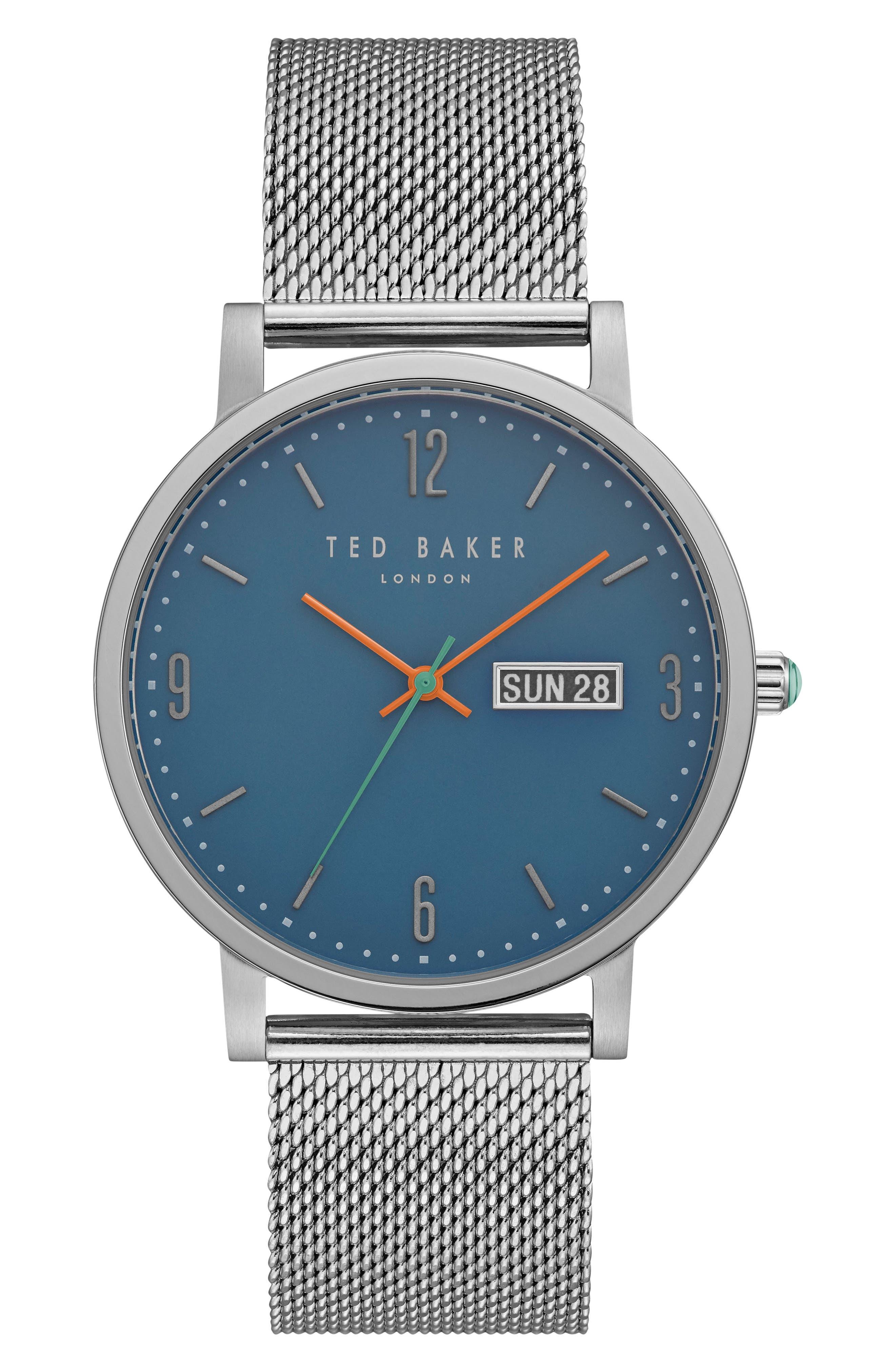 Alternate Image 1 Selected - Ted Baker London Grant Mesh Bracelet Watch, 40mm
