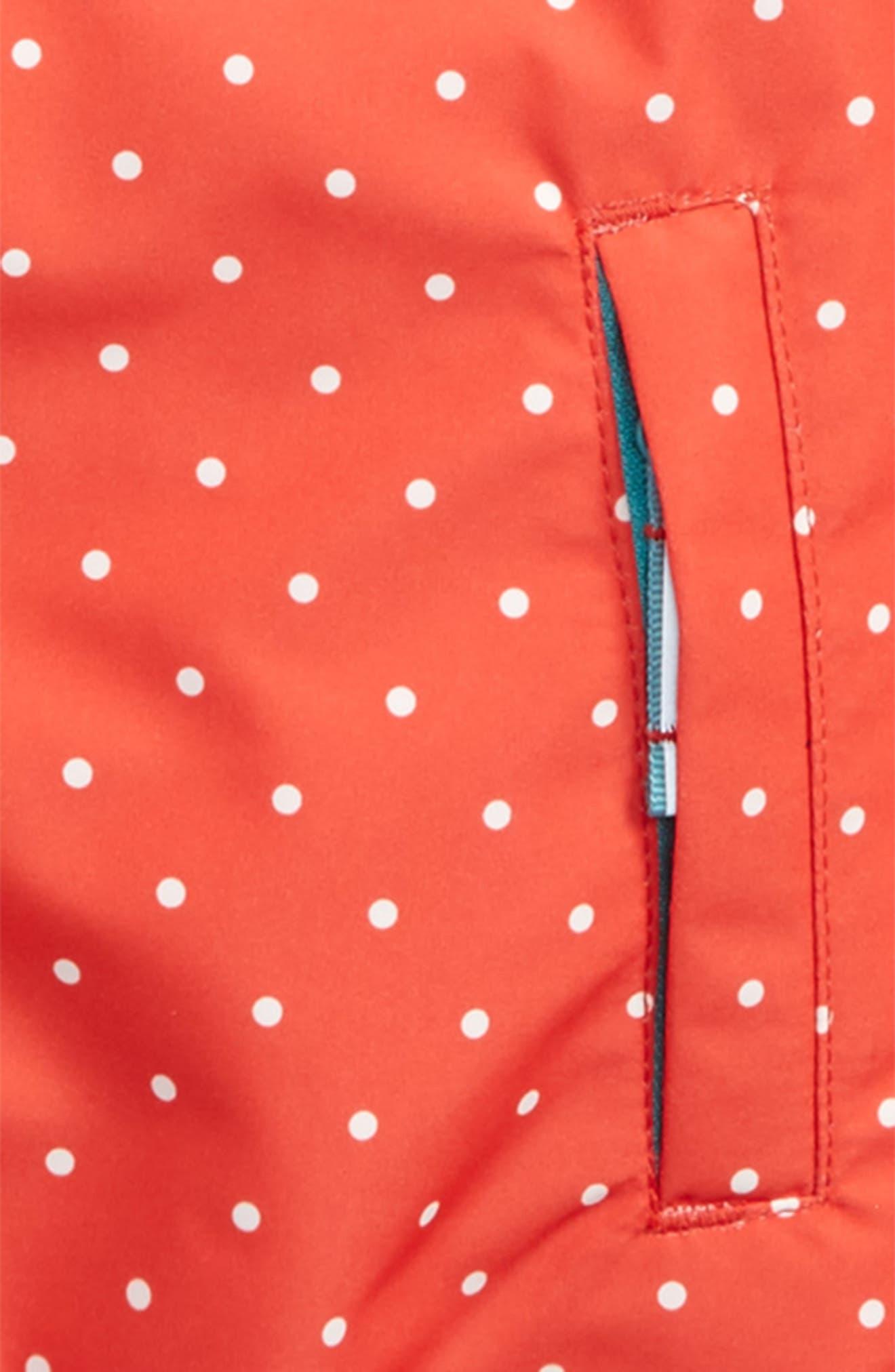 Packaway Waterproof Jacket,                             Alternate thumbnail 3, color,                             Red Jam Pin Spot