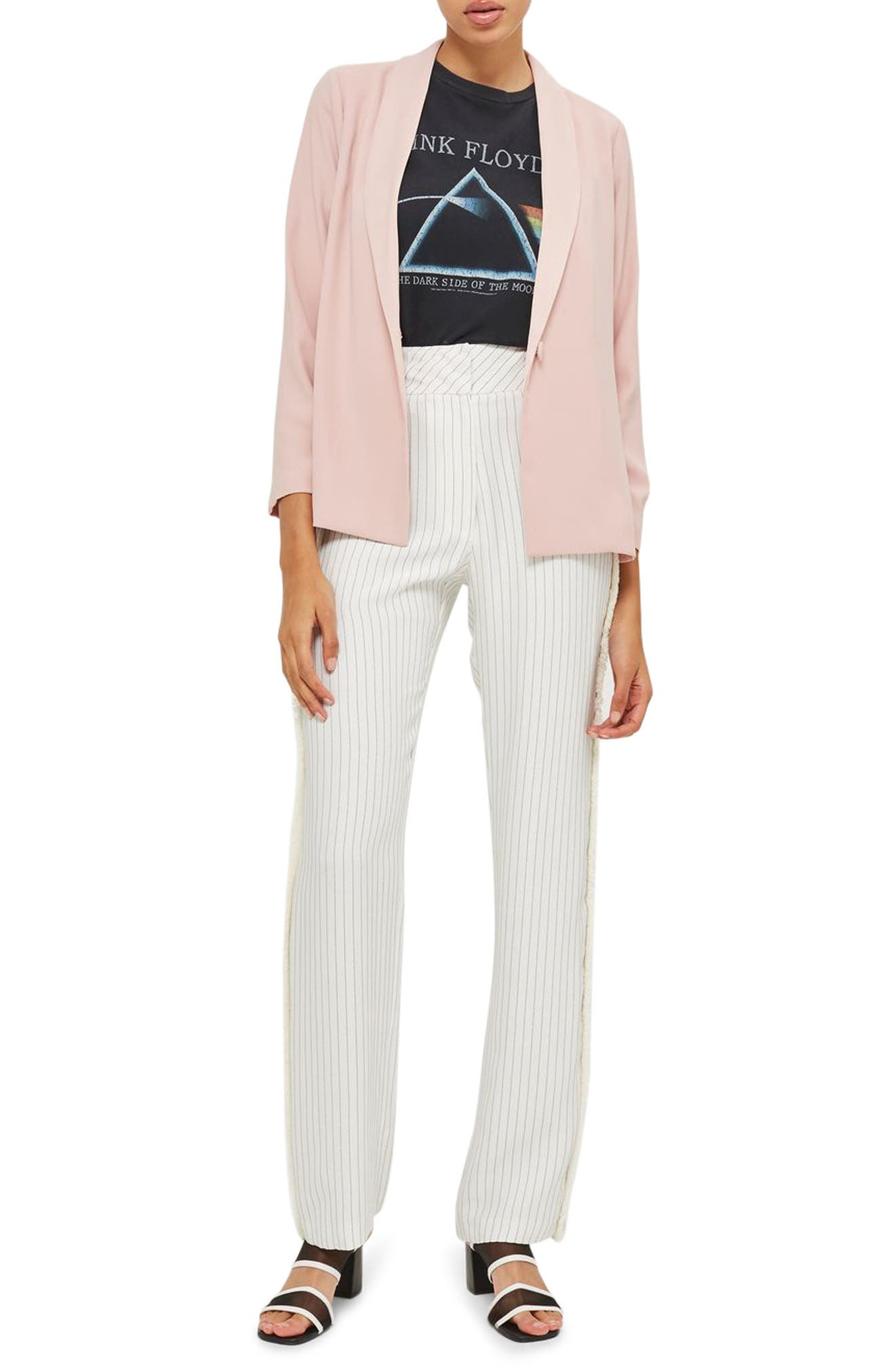 Topshop Ruched Sleeve Blazer (Petite)