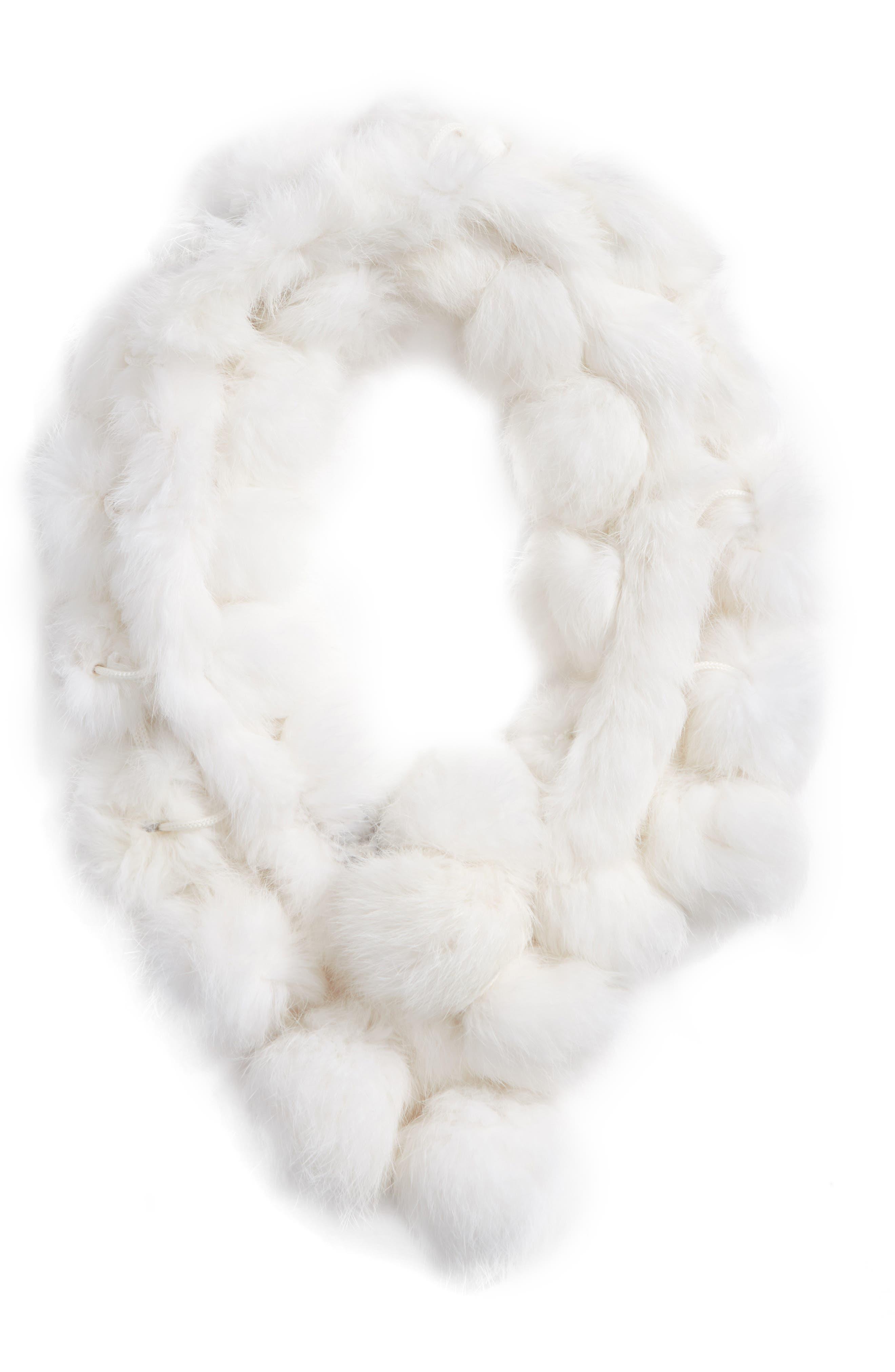 Alternate Image 3  - Love Token Genuine Rabbit Fur Scarf