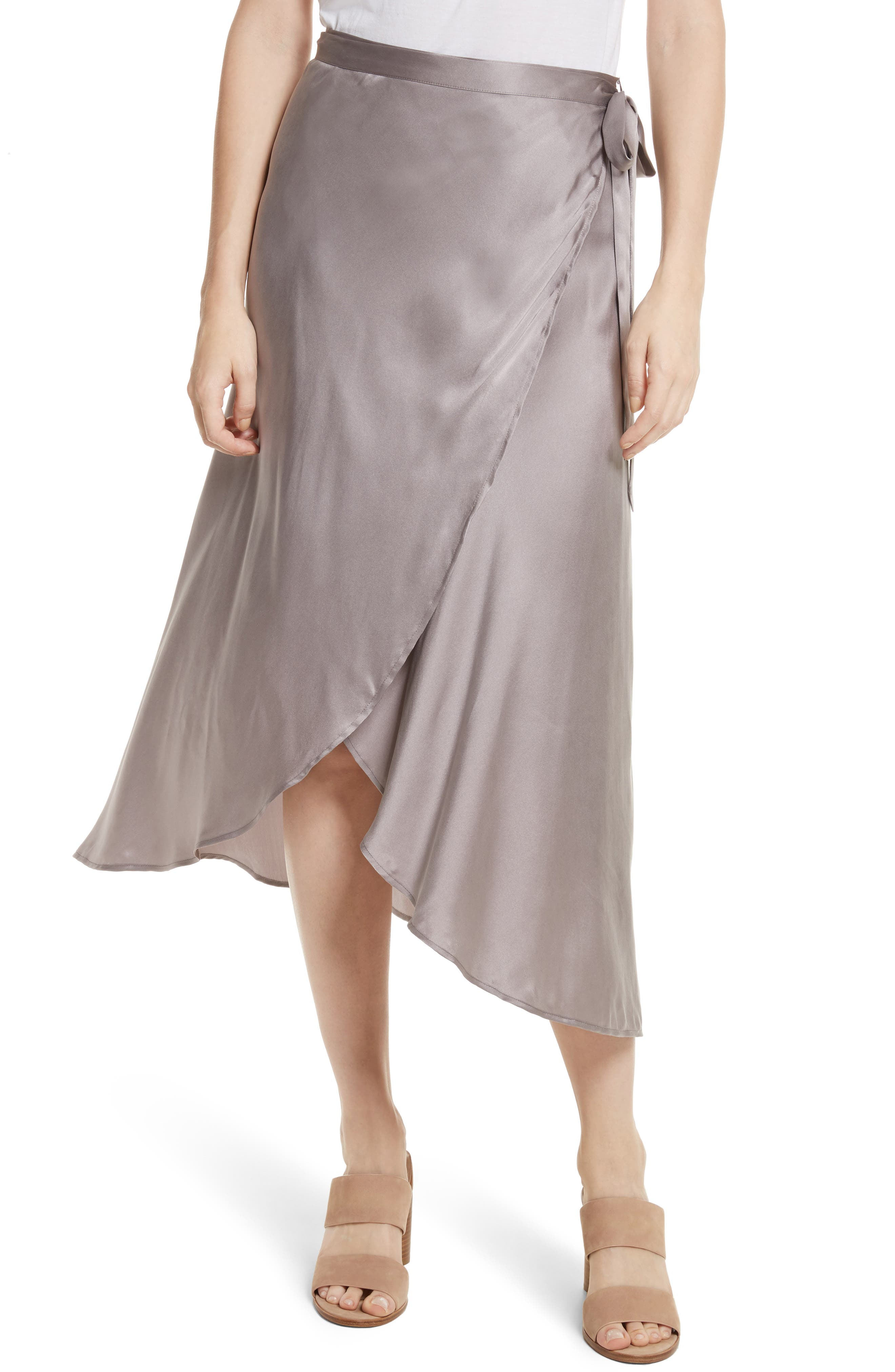 Main Image - Joie Dahoma Silk Wrap Midi Skirt