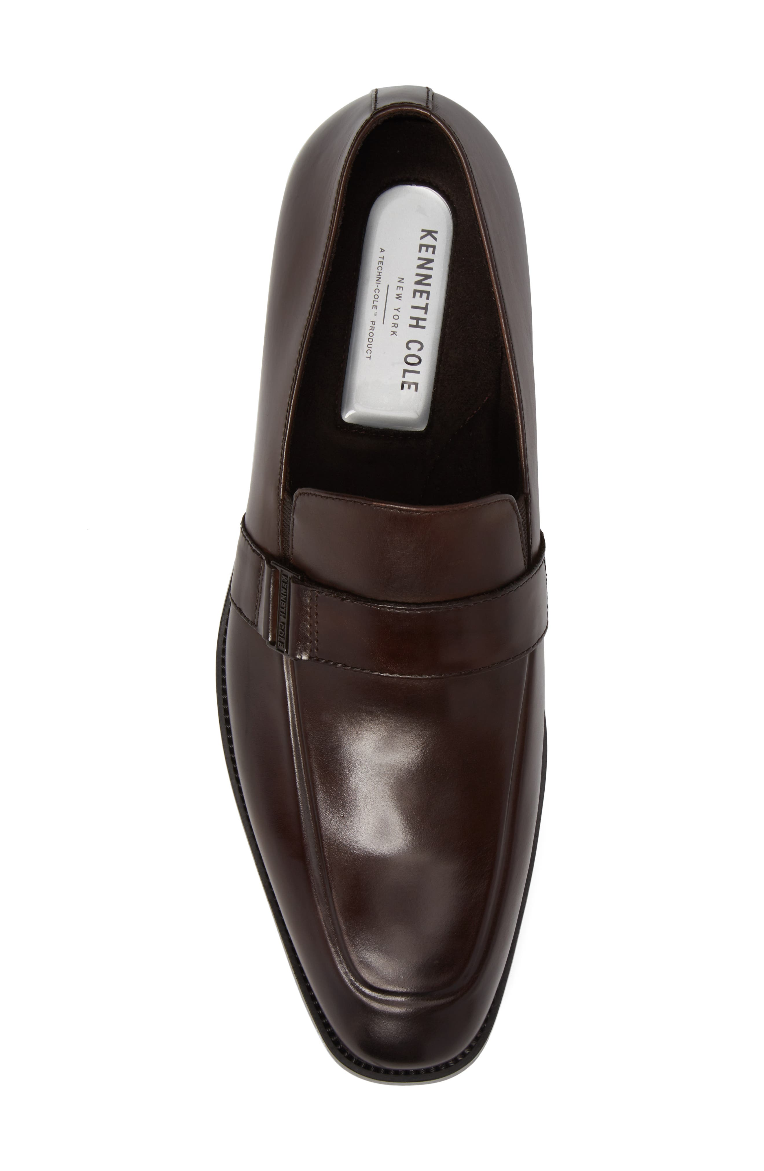 Apron Toe Loafer,                             Alternate thumbnail 5, color,                             Brown Leather