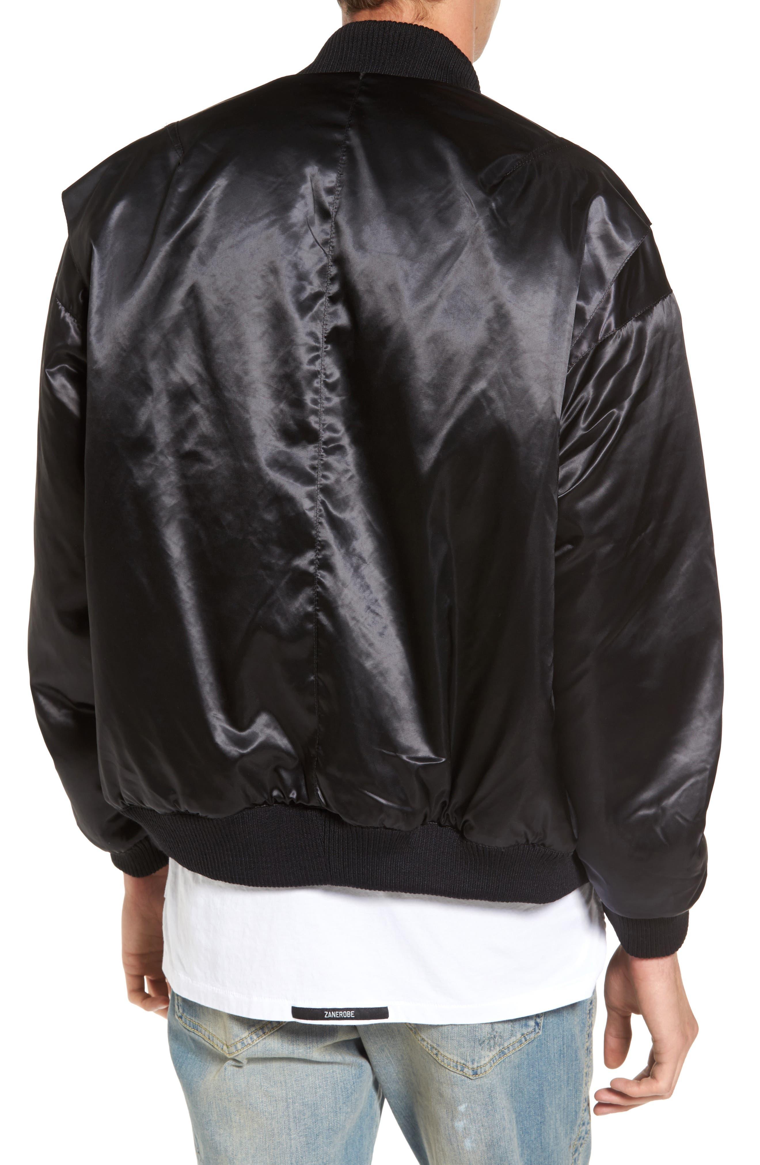 Classic Bomber Jacket,                             Alternate thumbnail 2, color,                             Black