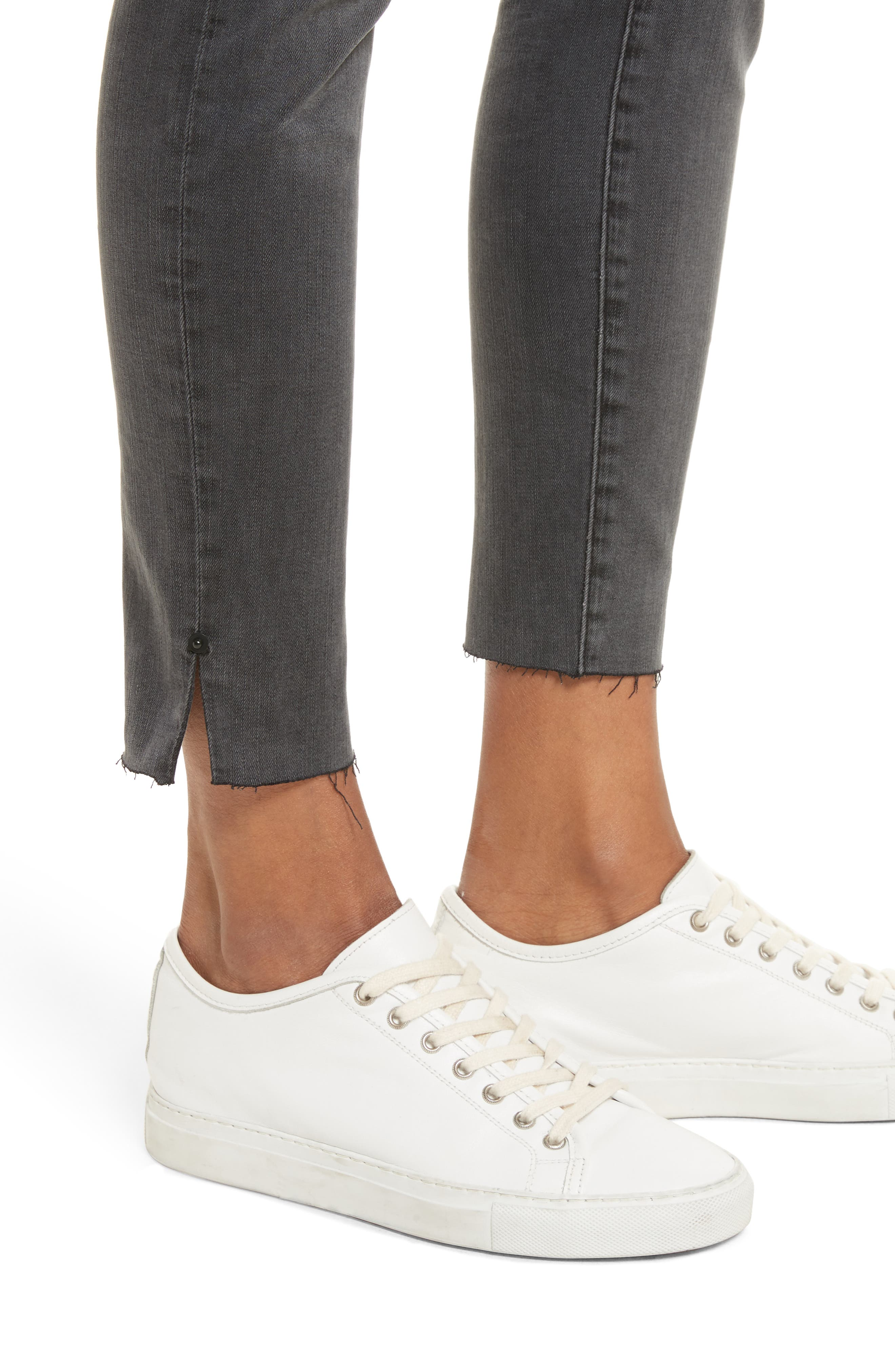Le High Ankle Skinny Jeans,                             Alternate thumbnail 4, color,                             Dartmouth Exclusive