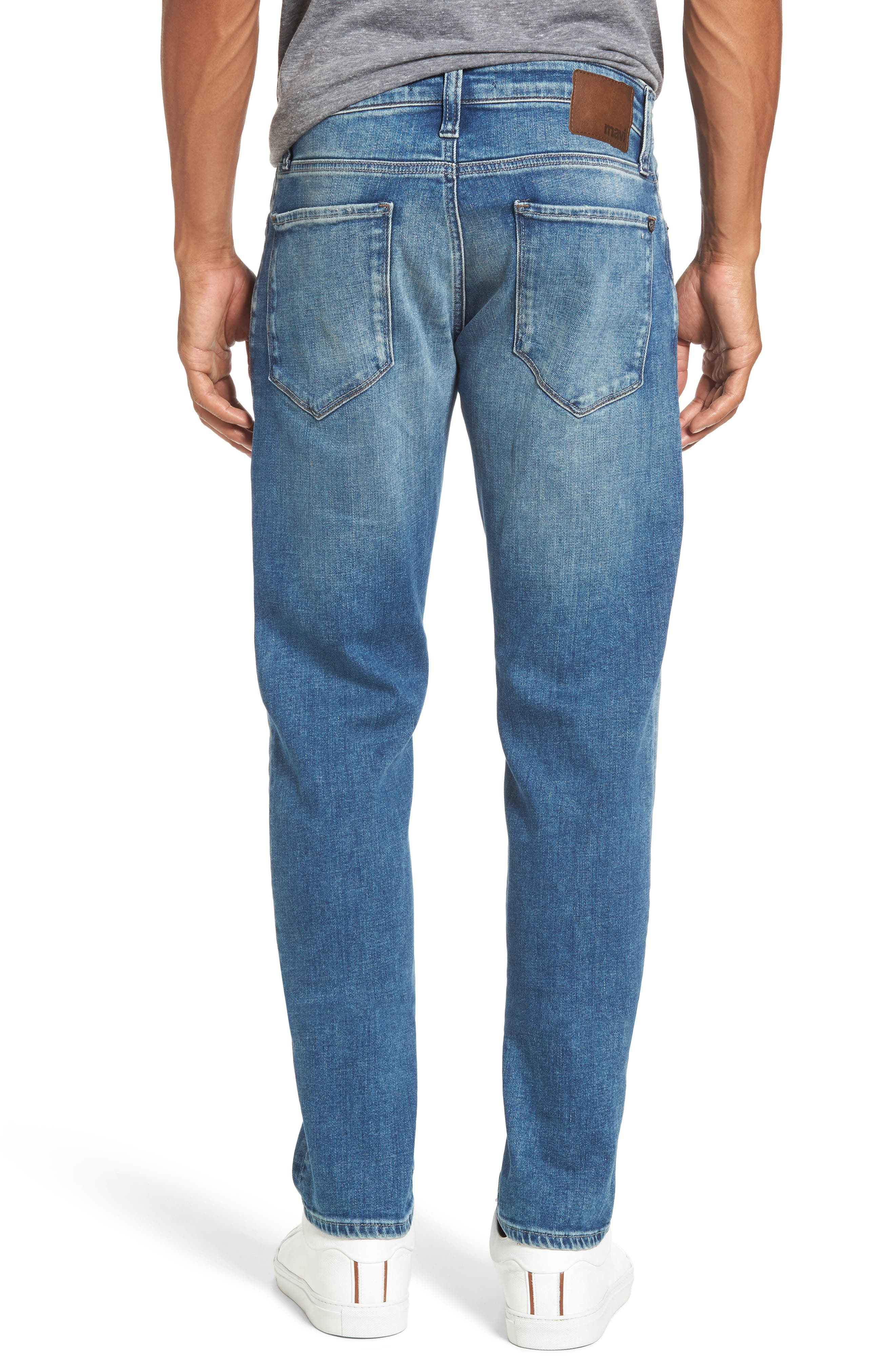 Alternate Image 2  - Mavi Jeans Jake Easy Slim Fit Jeans (Mid Ripped Authentic Vintage)
