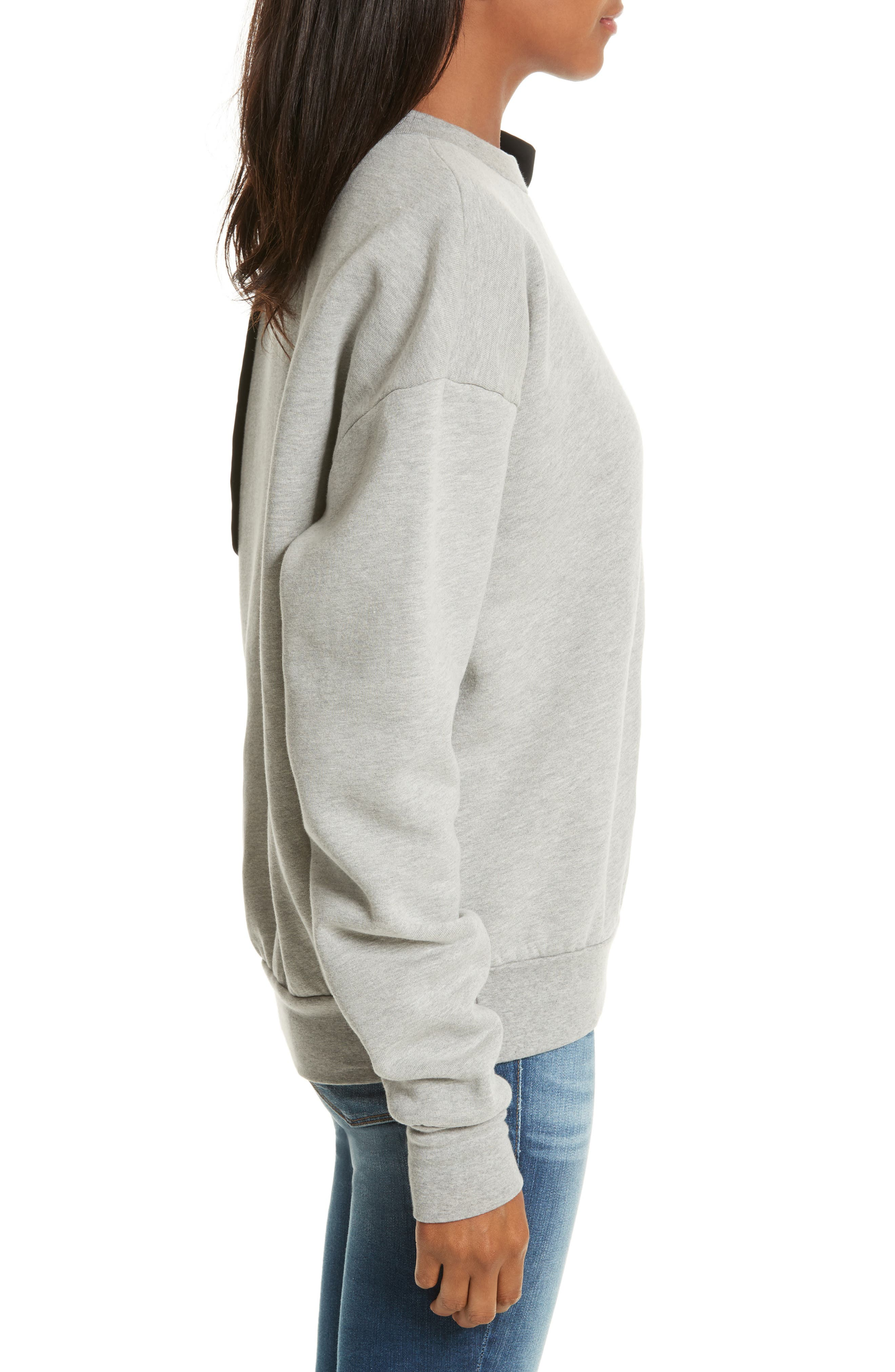 Bow Sweatshirt,                             Alternate thumbnail 3, color,                             Gris
