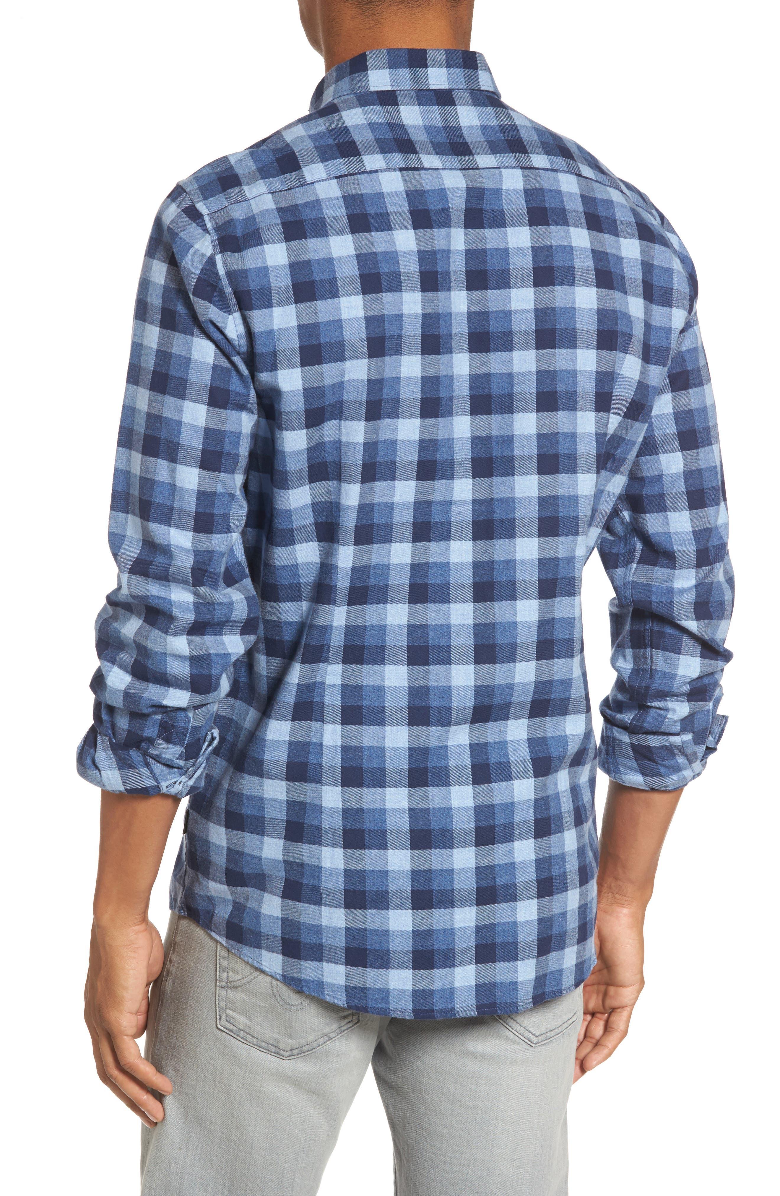 Grill Regular Fit Check Sport Shirt,                             Alternate thumbnail 2, color,                             Chambray