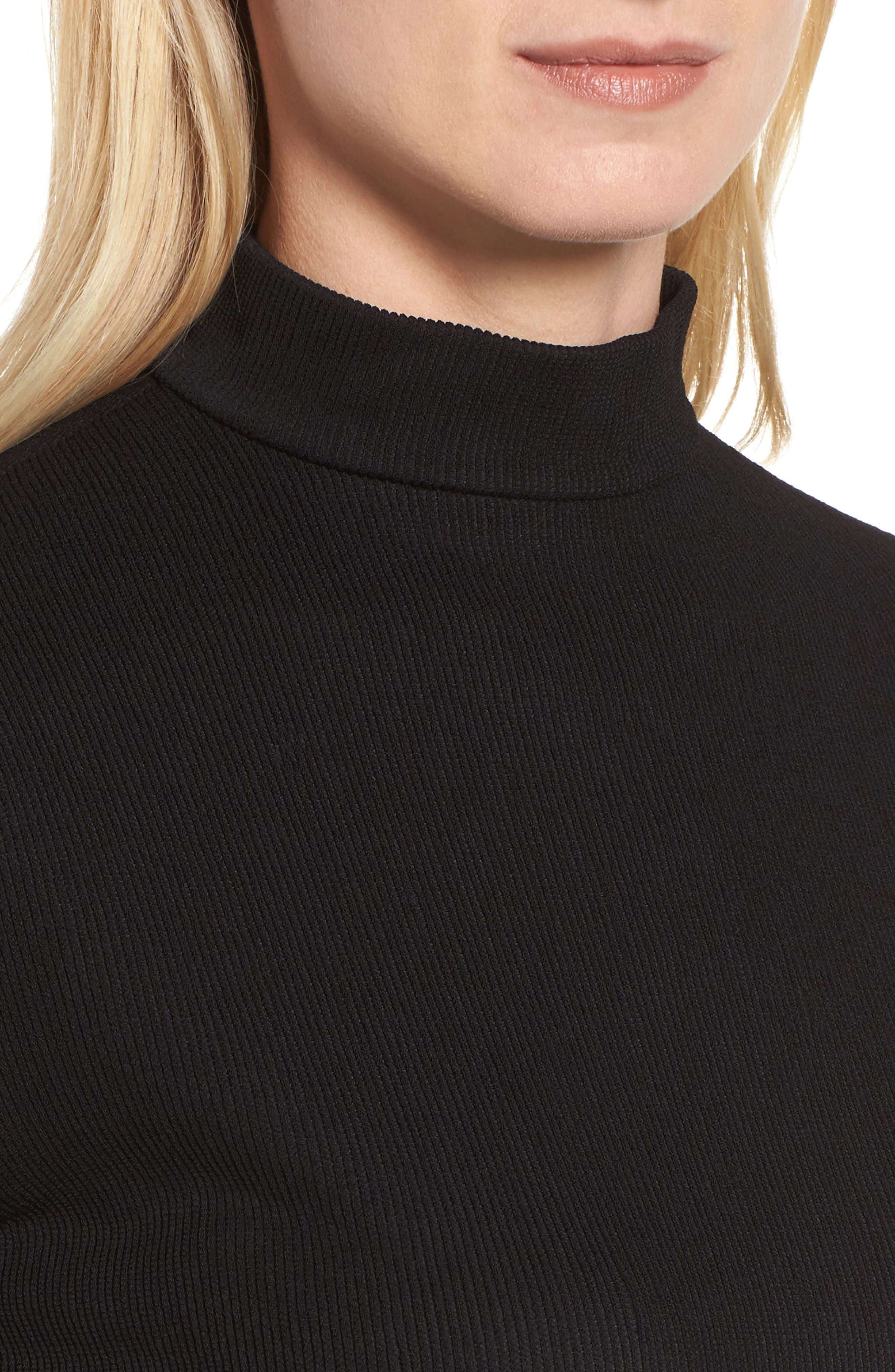 Etelina Sweater,                             Alternate thumbnail 4, color,                             Black