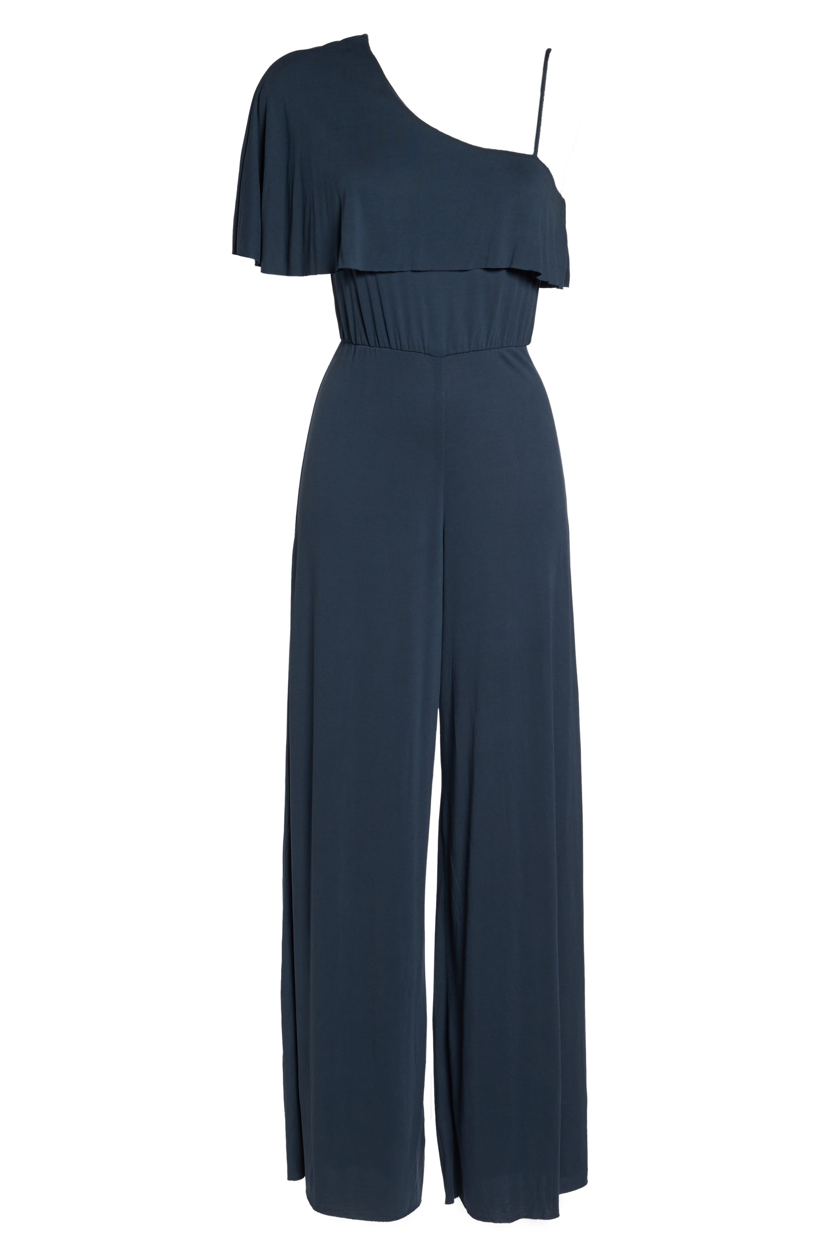 Alternate Image 6  - NSR One-Shoulder Jumpsuit