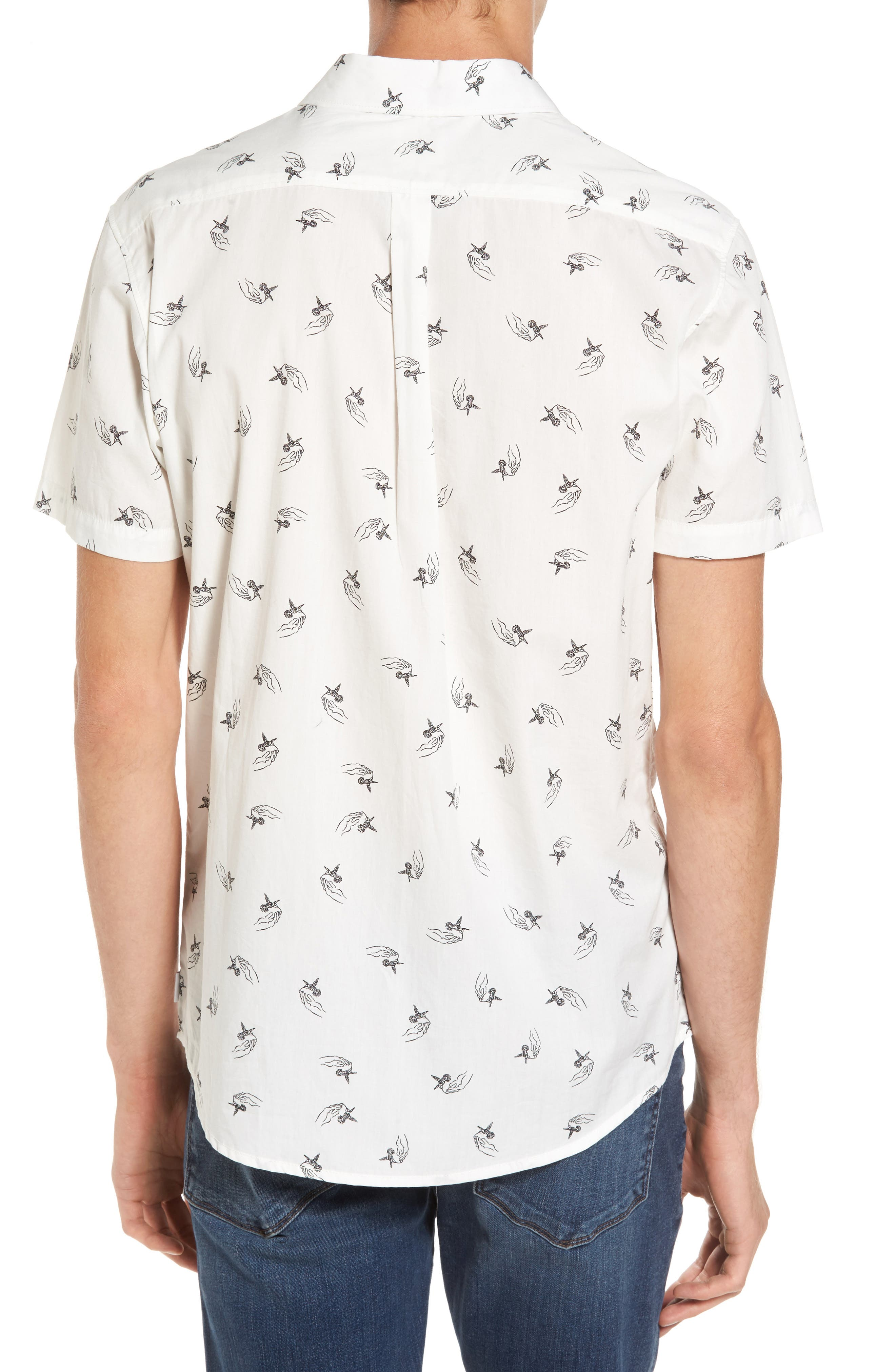 x Kevin Long Hummingbird Woven Shirt,                             Alternate thumbnail 2, color,                             Antique White