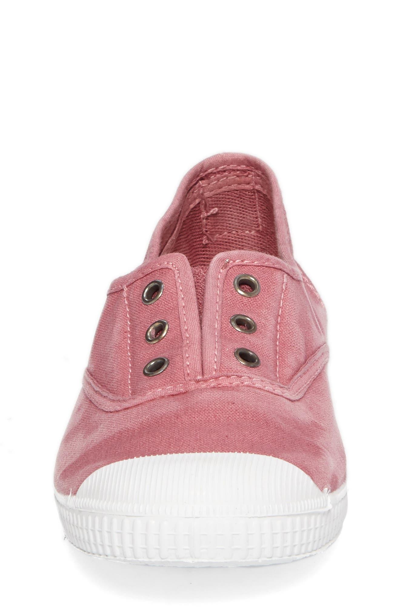 Laceless Slip-On Sneaker,                             Alternate thumbnail 4, color,                             Pink