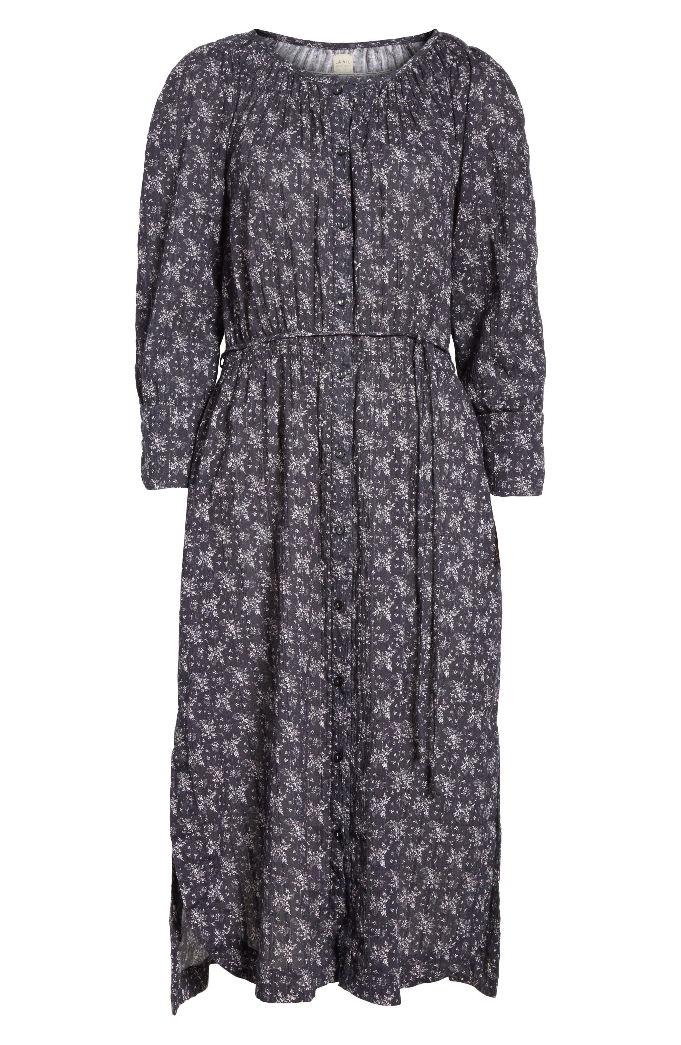 Alternate Image 6  - La Vie Rebecca Taylor Angelique Long Sleeve Dress