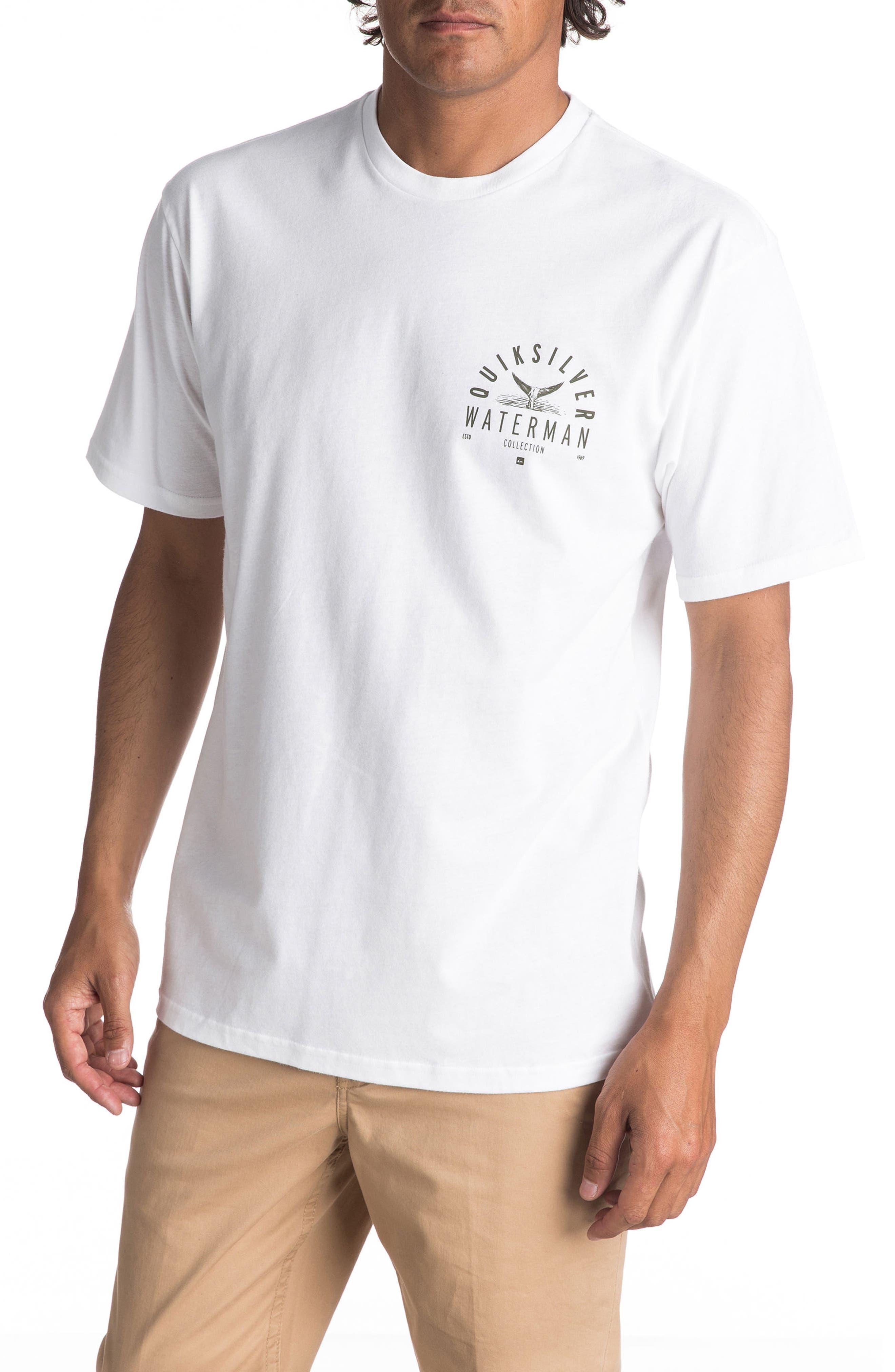 Water Way of Life T-Shirt,                             Main thumbnail 1, color,                             White