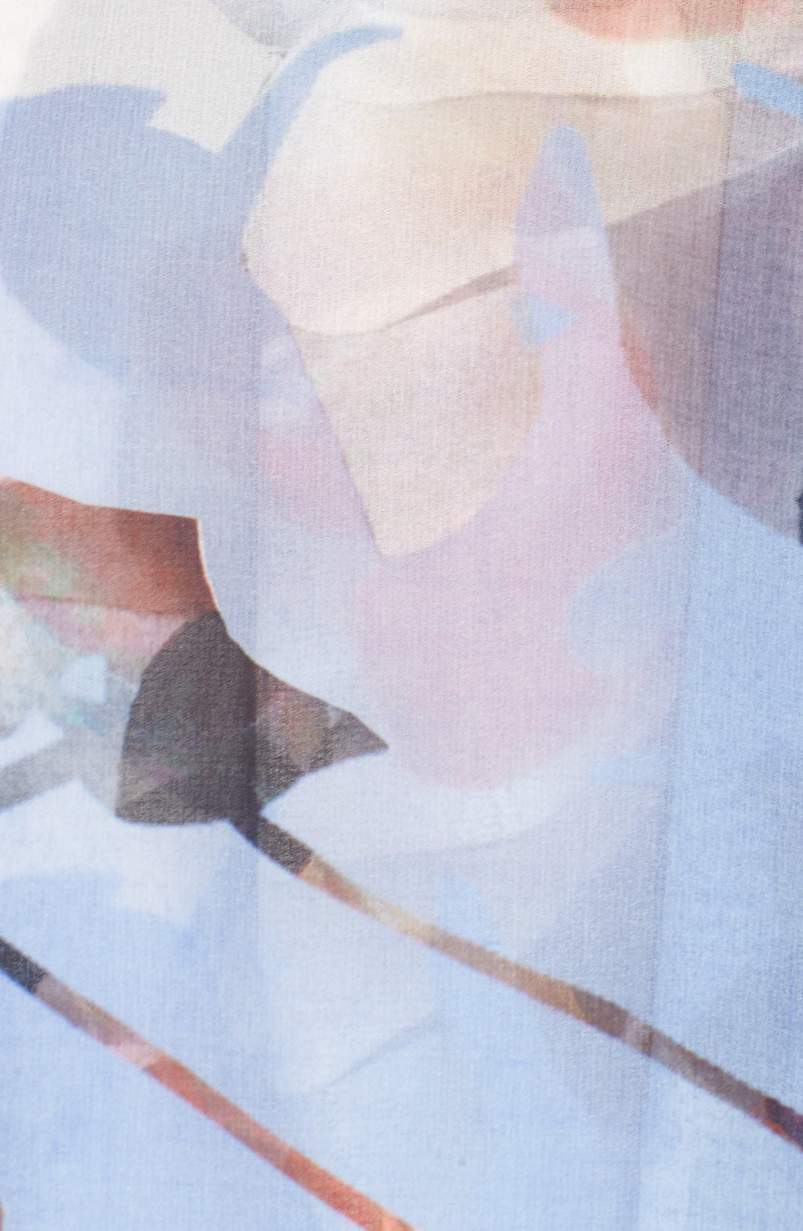 Elle Midi Dress,                             Alternate thumbnail 5, color,                             Print