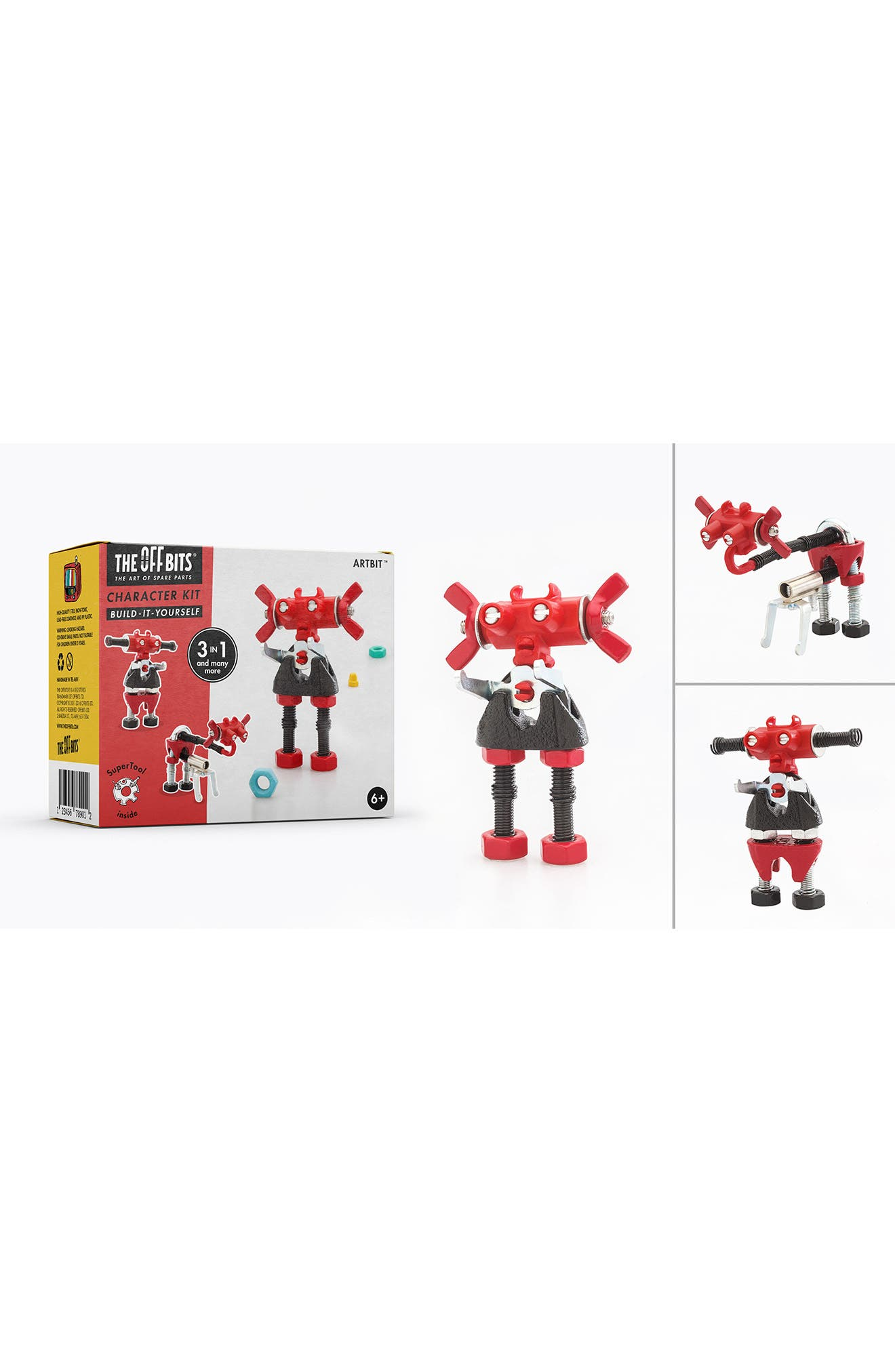 OffBits ArtBit 28-Piece Character Building Kit,                         Main,                         color, Red