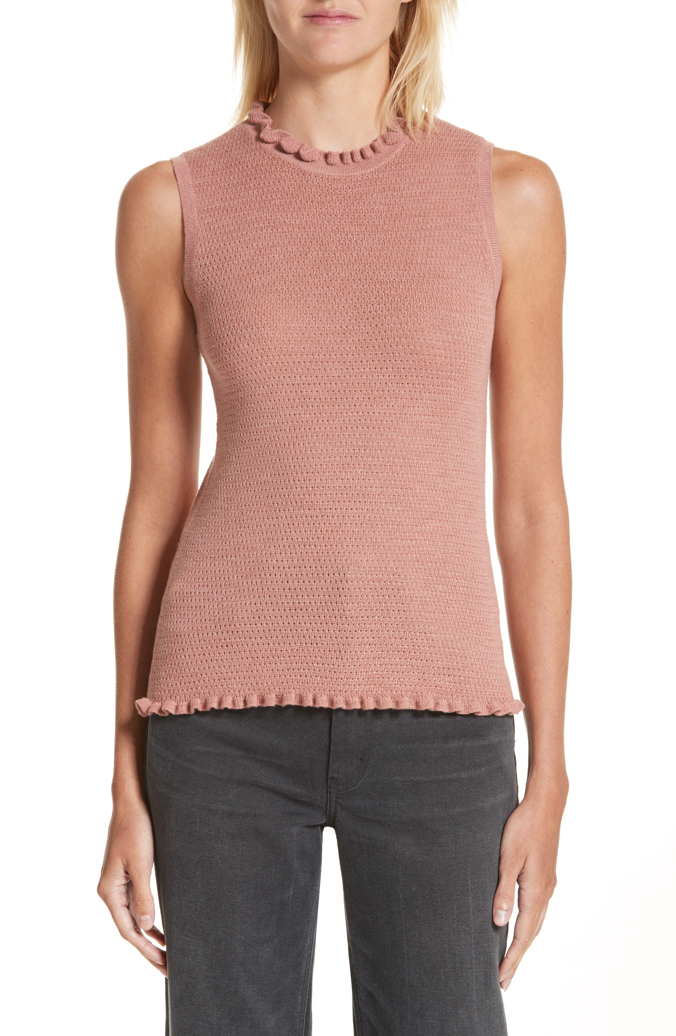 Rebecca Taylor Merino Wool Sweater Tank