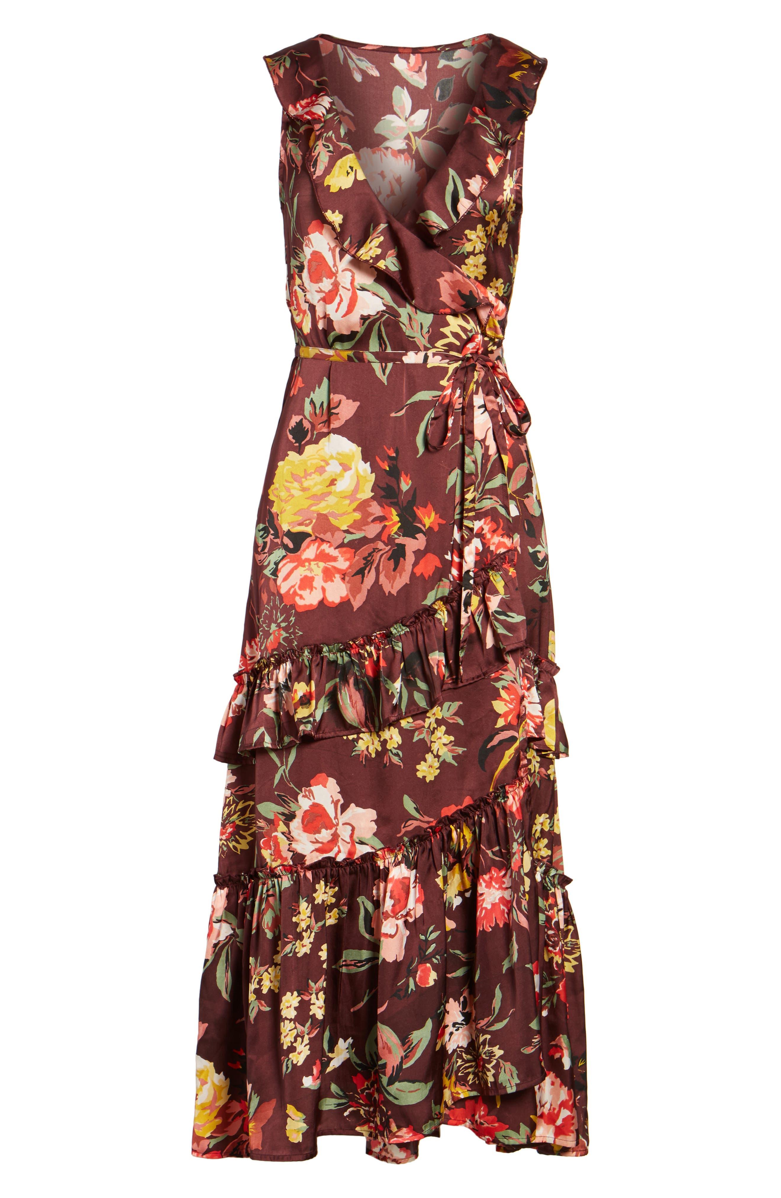 Alternate Image 6  - Love Like Summer x Billabong Ruffle Wrap Dress