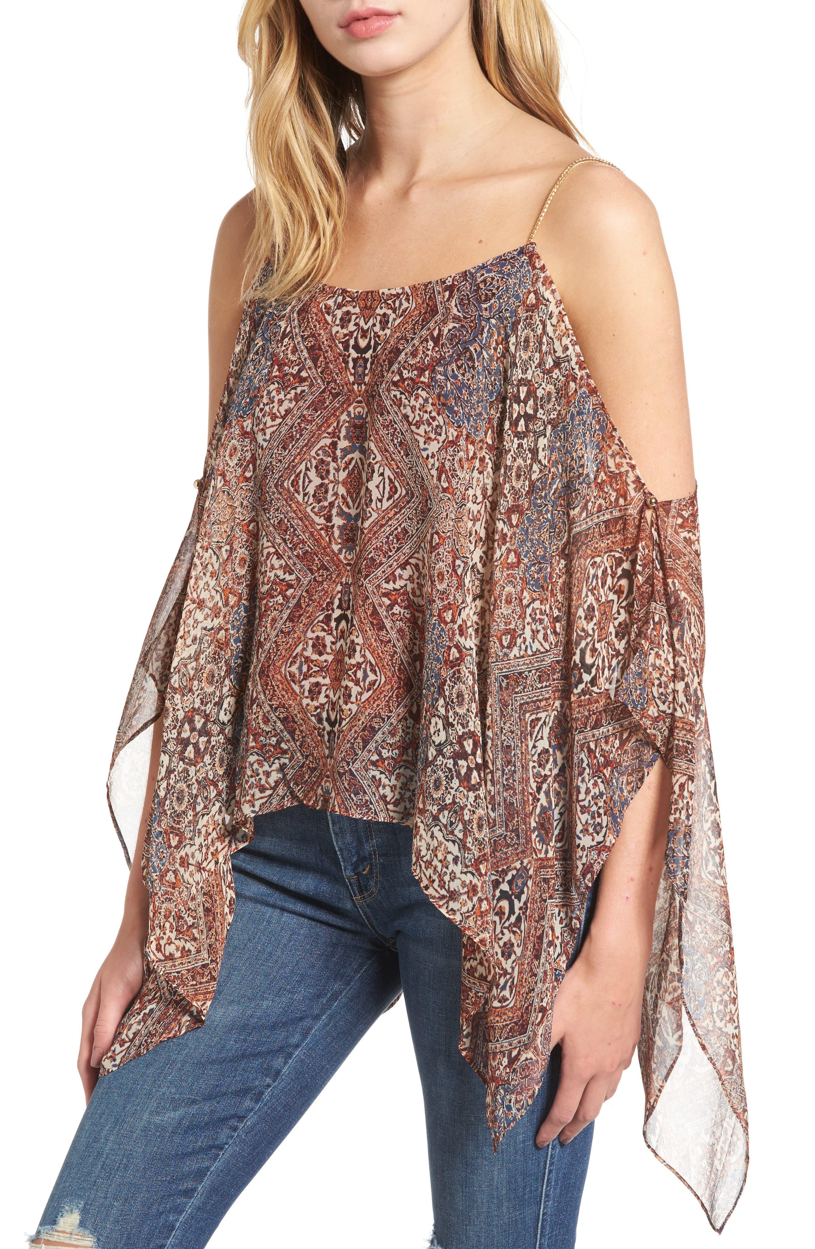 Ella Moss Casablanca Tapestry Silk Blouse