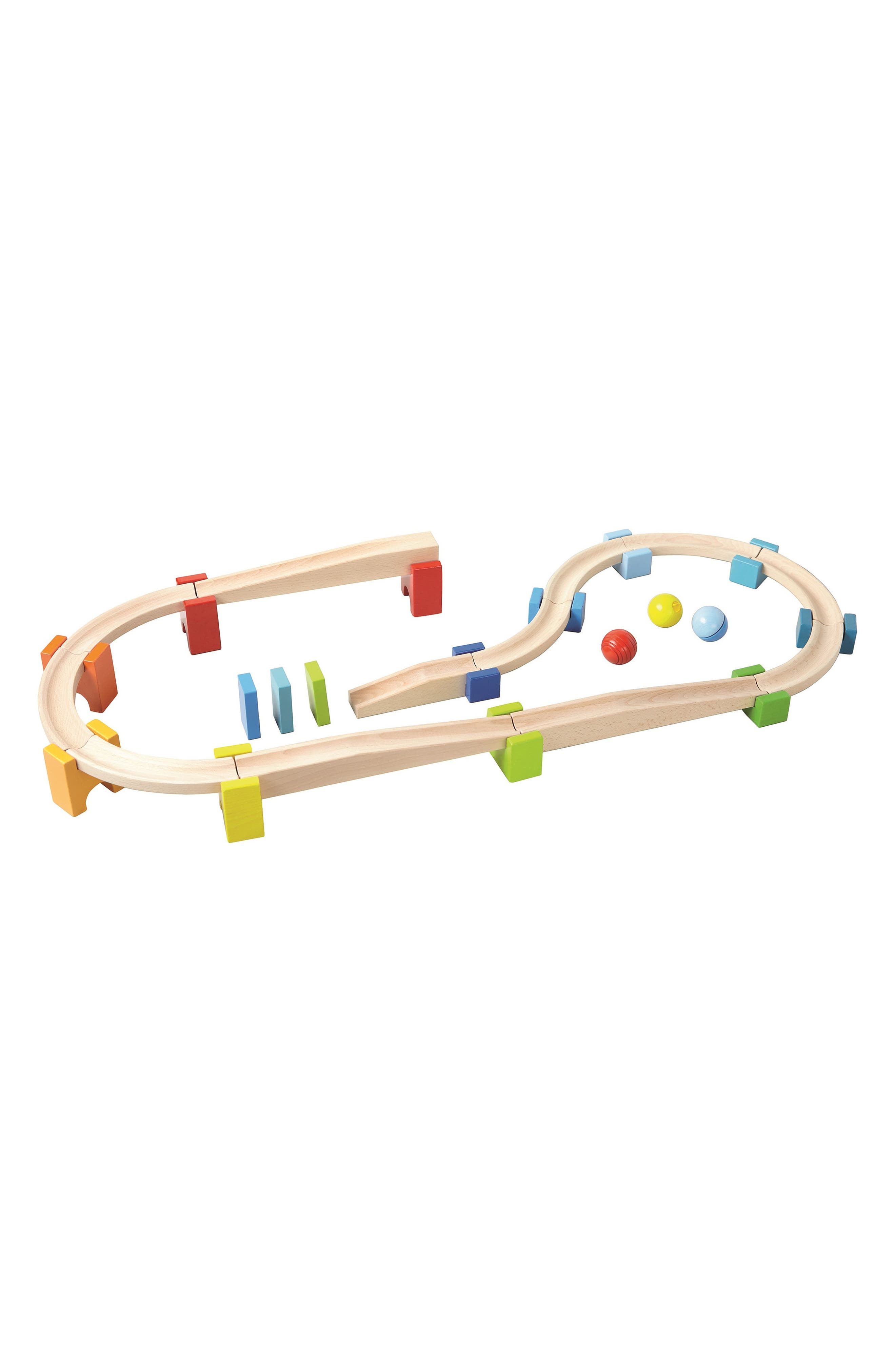 My First Ball Track - 30-Piece Large Basic Pack Construction Set,                             Main thumbnail 1, color,                             Brown