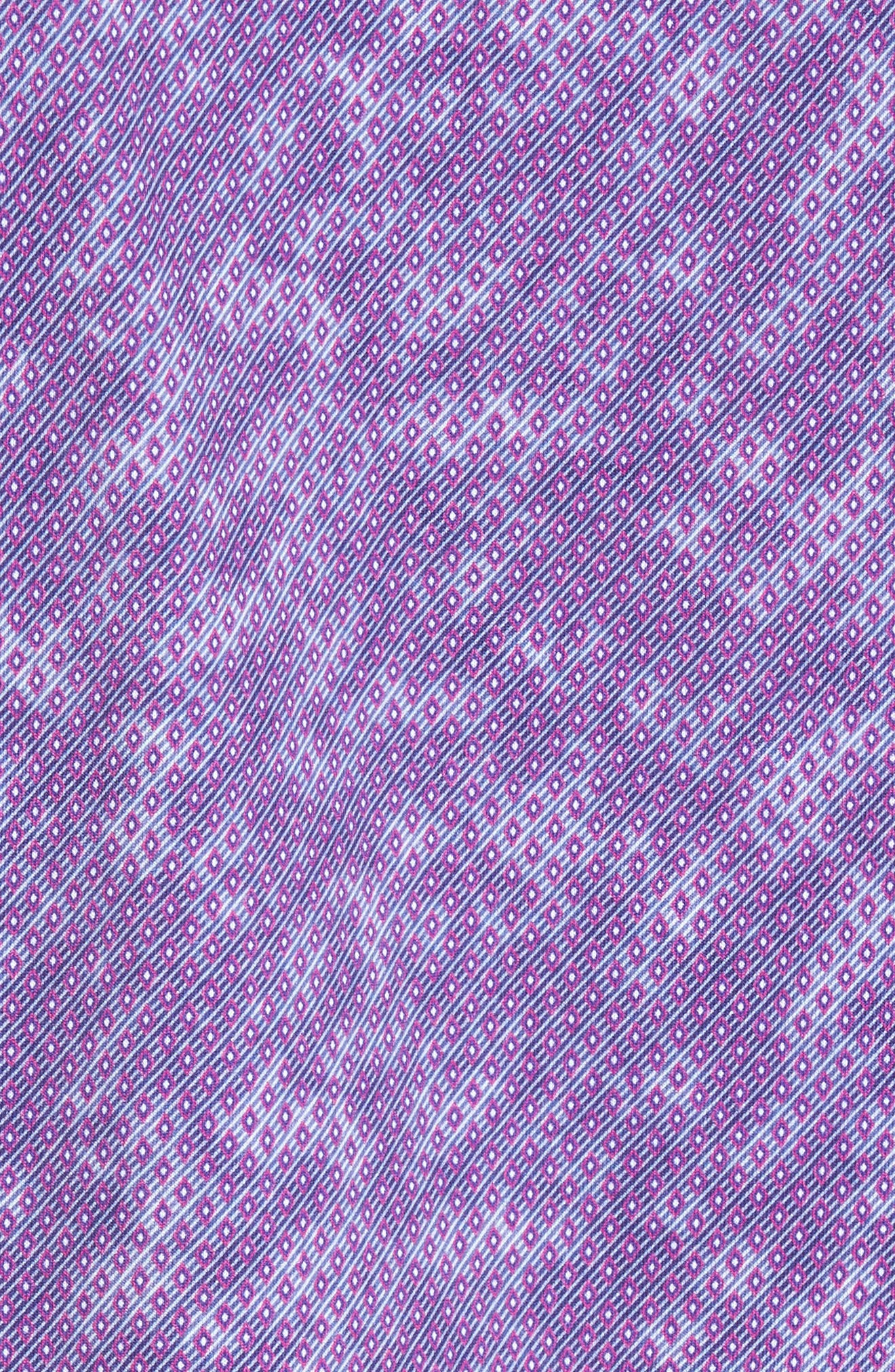 Alternate Image 5  - Stone Rose Slim Fit Wavy Diamond Print Sport Shirt