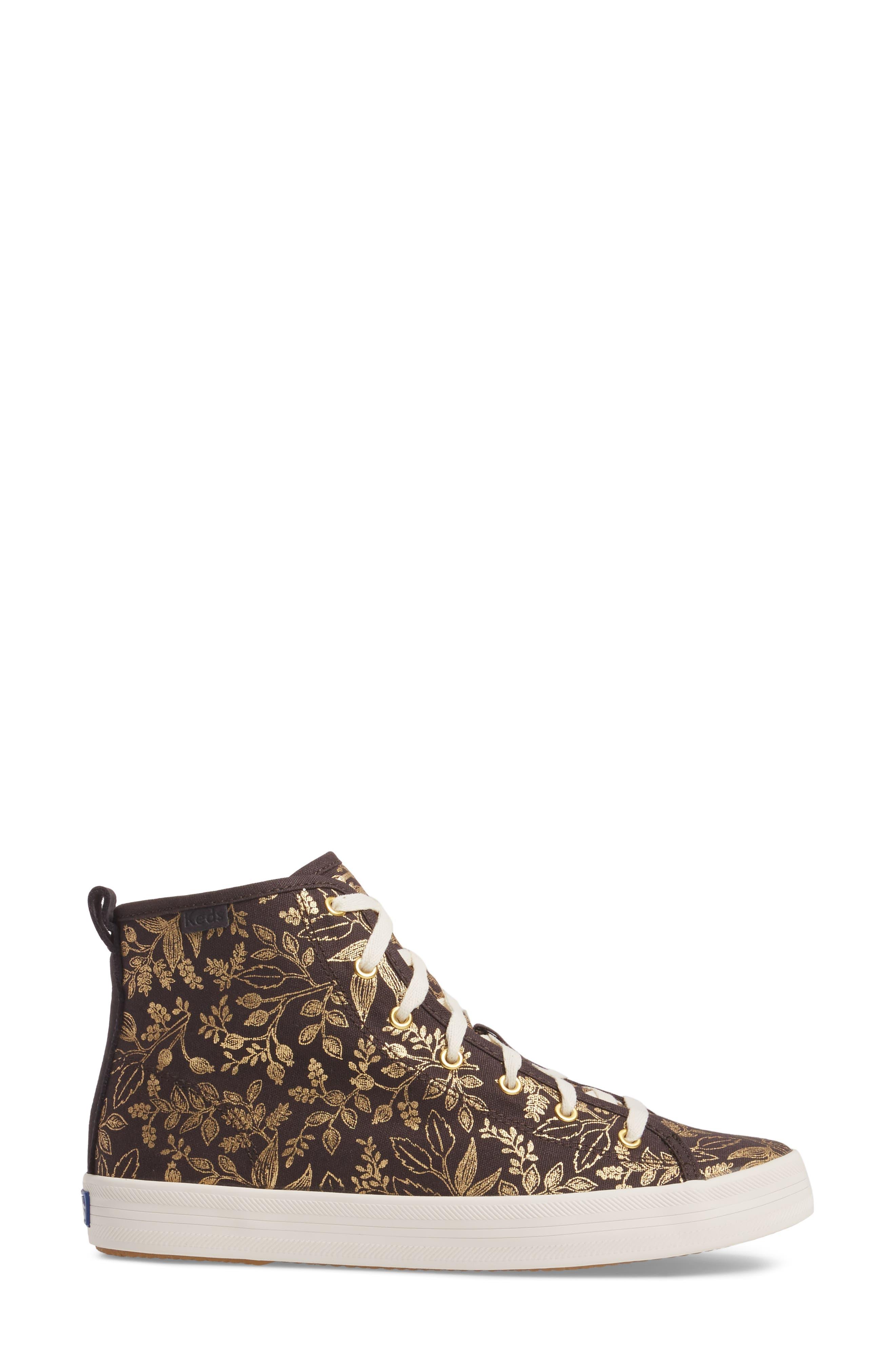 Alternate Image 3  - Keds® x Rifle Paper Co. Queen Anne High Top Sneaker (Women)