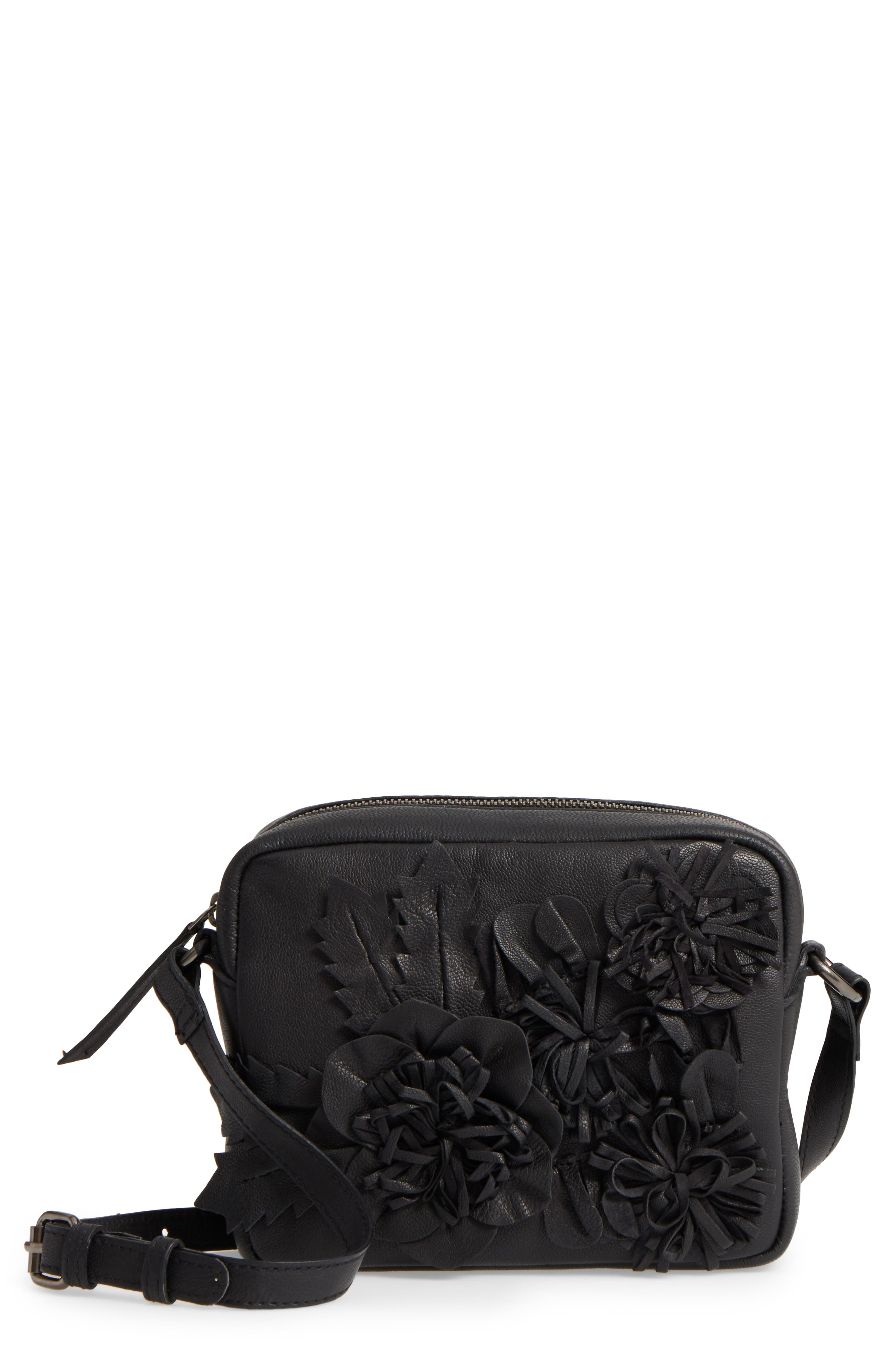 Topshop Elise Floral Leather Crossbody Bag