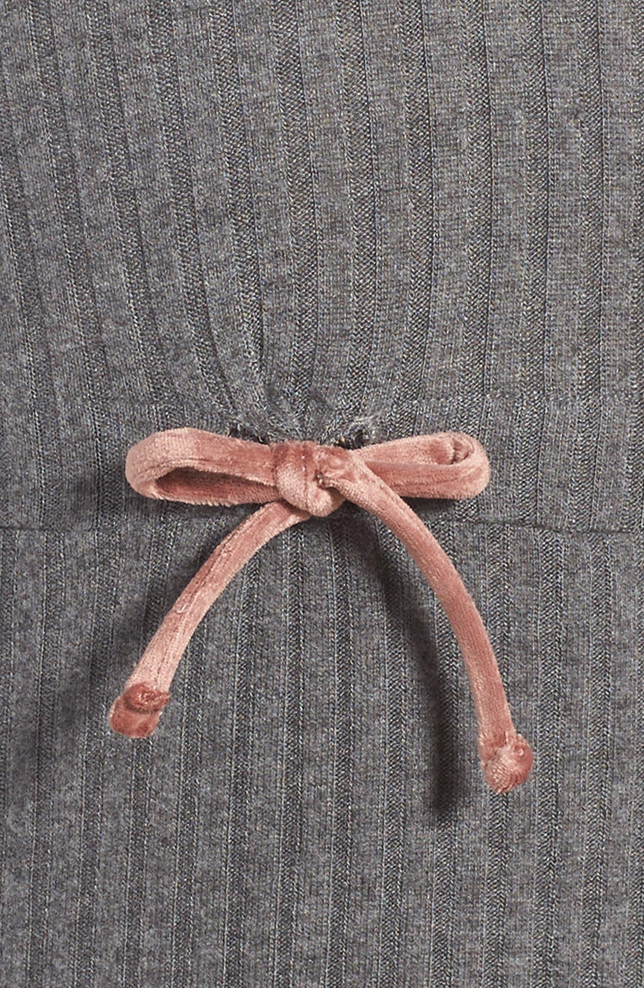 Ellana Ribbed Sweater Dress,                             Alternate thumbnail 3, color,                             Charcoal Rib
