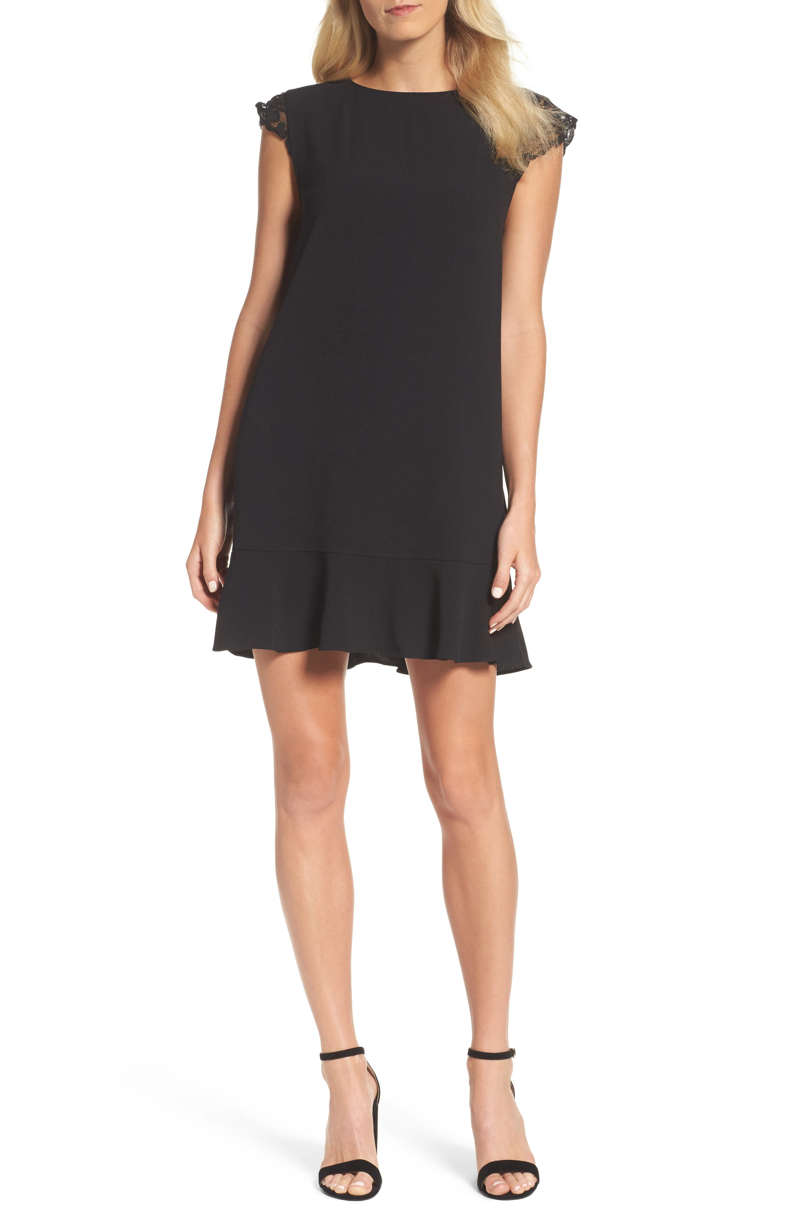 FELICITY & COCO Lace Sleeve Shift Dress