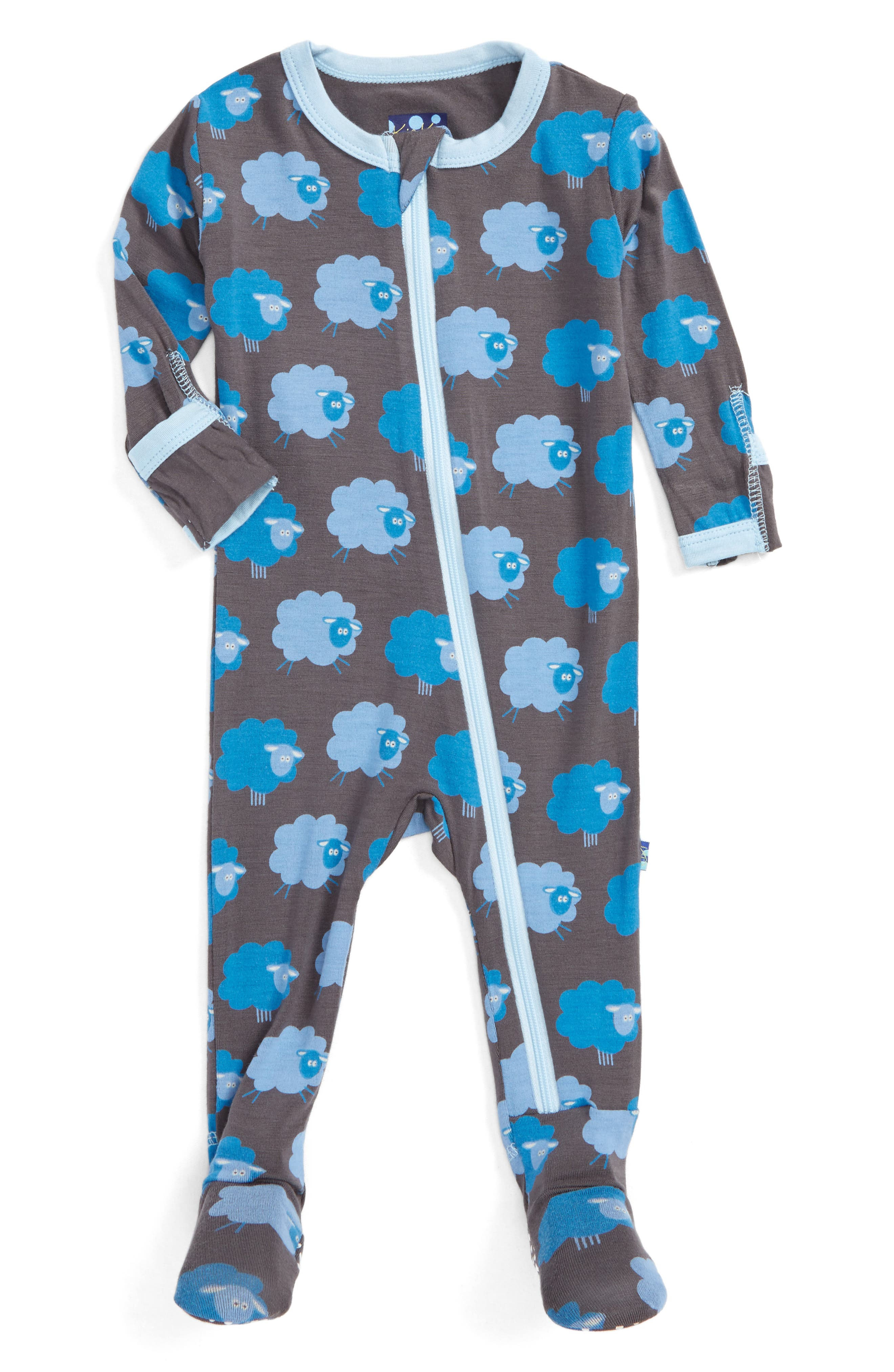 KICKEE PANTS Fitted One-Piece Footie Pajamas