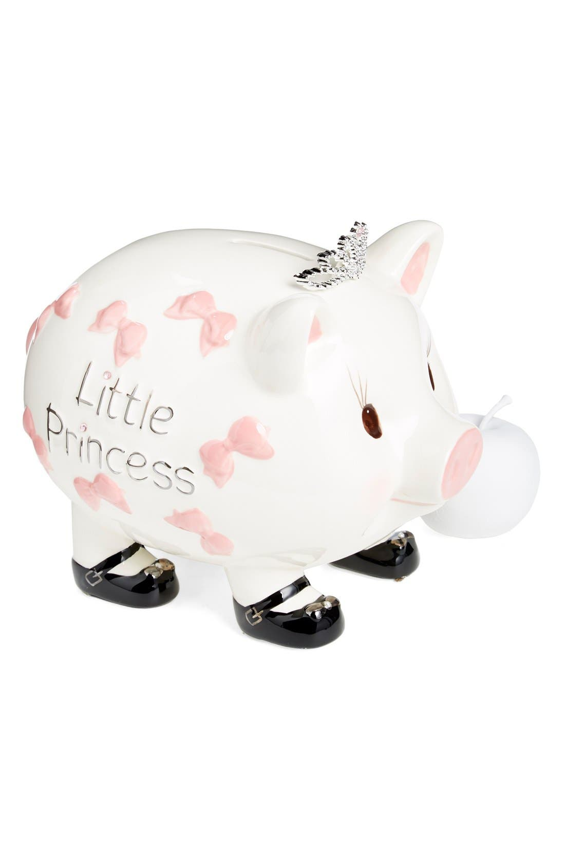 Ceramic Piggy Bank,                             Alternate thumbnail 2, color,                             Pink/ Ivory