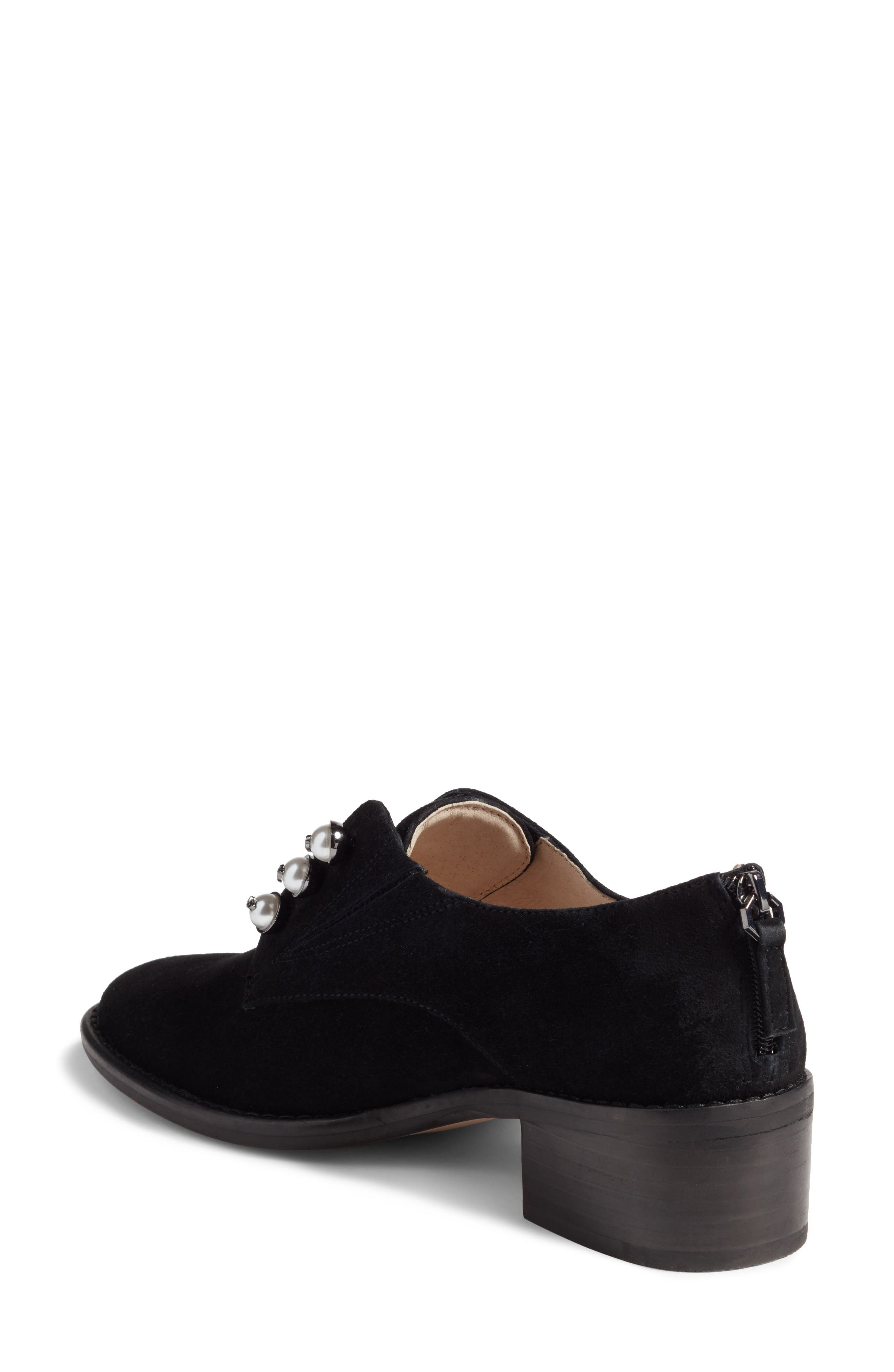 Fren Oxford,                             Alternate thumbnail 2, color,                             Black Suede