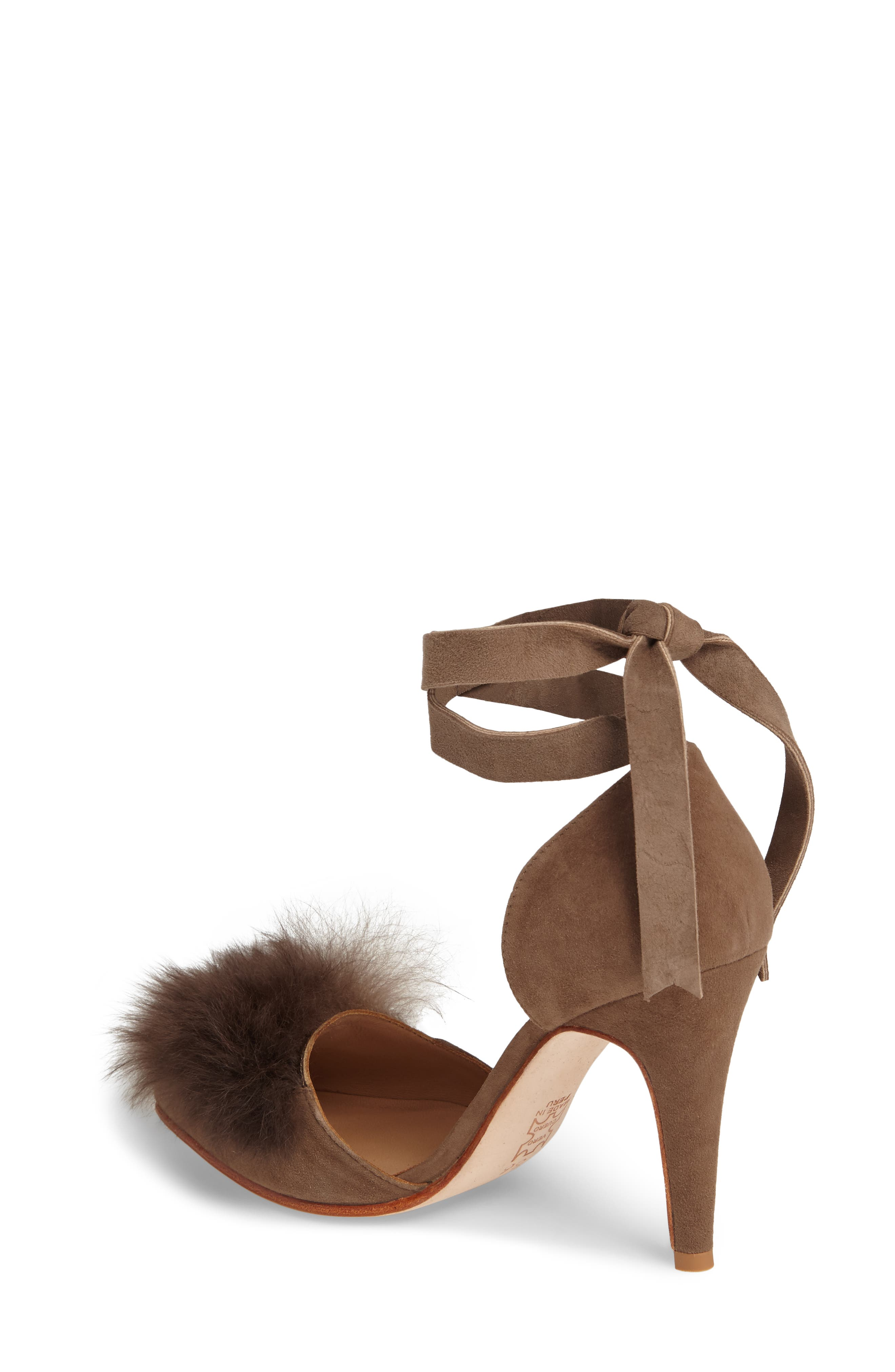 Alternate Image 2  - Huma Blanco Danna Genuine Alpaca Fur Sandal (Women)