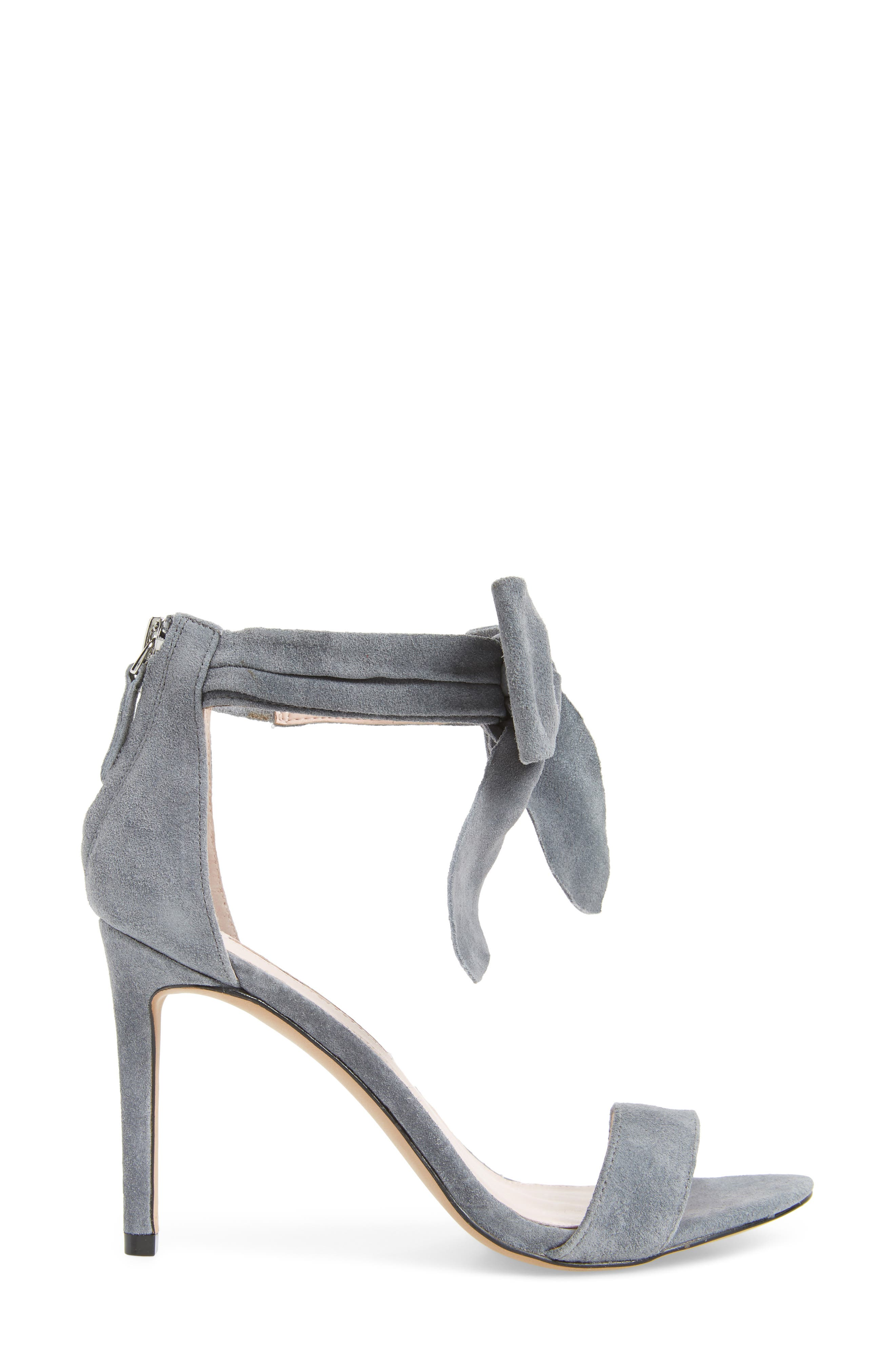 Jax Ankle Bow Pump,                             Alternate thumbnail 3, color,                             Grey Suede