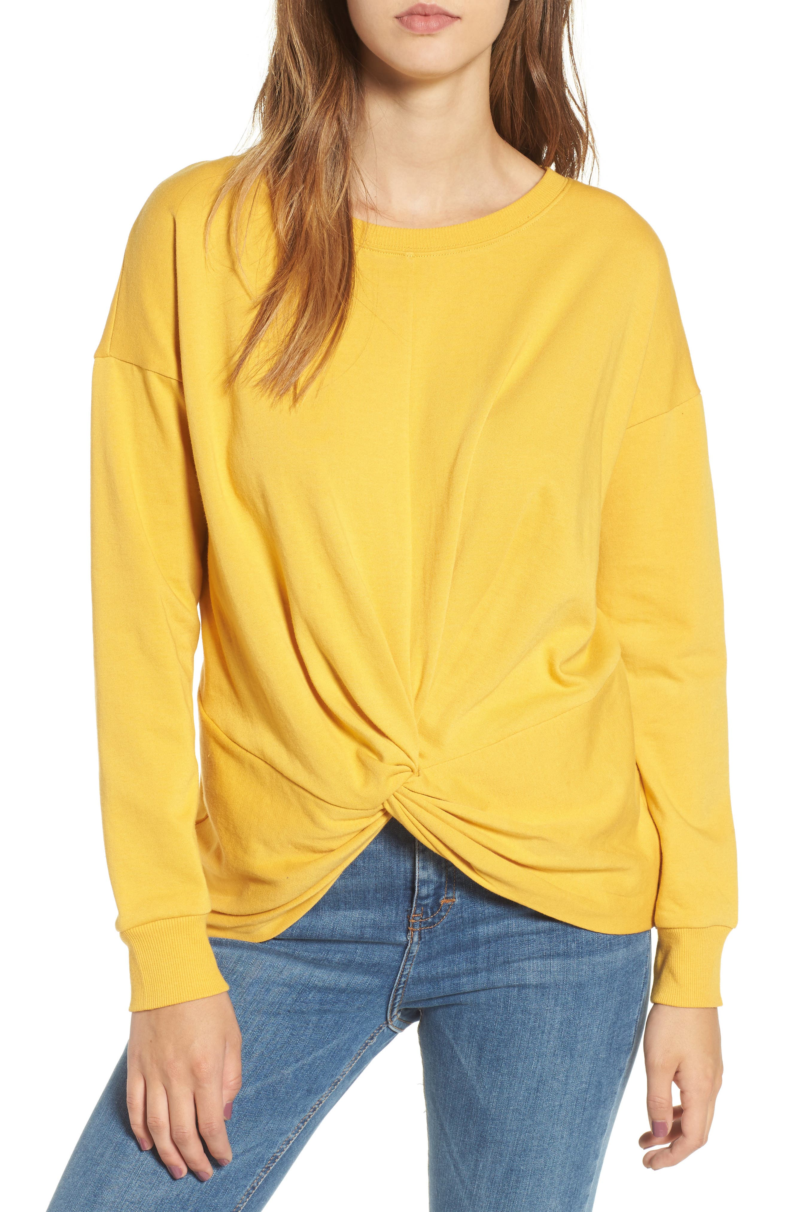 Socialite Twist Front Pullover