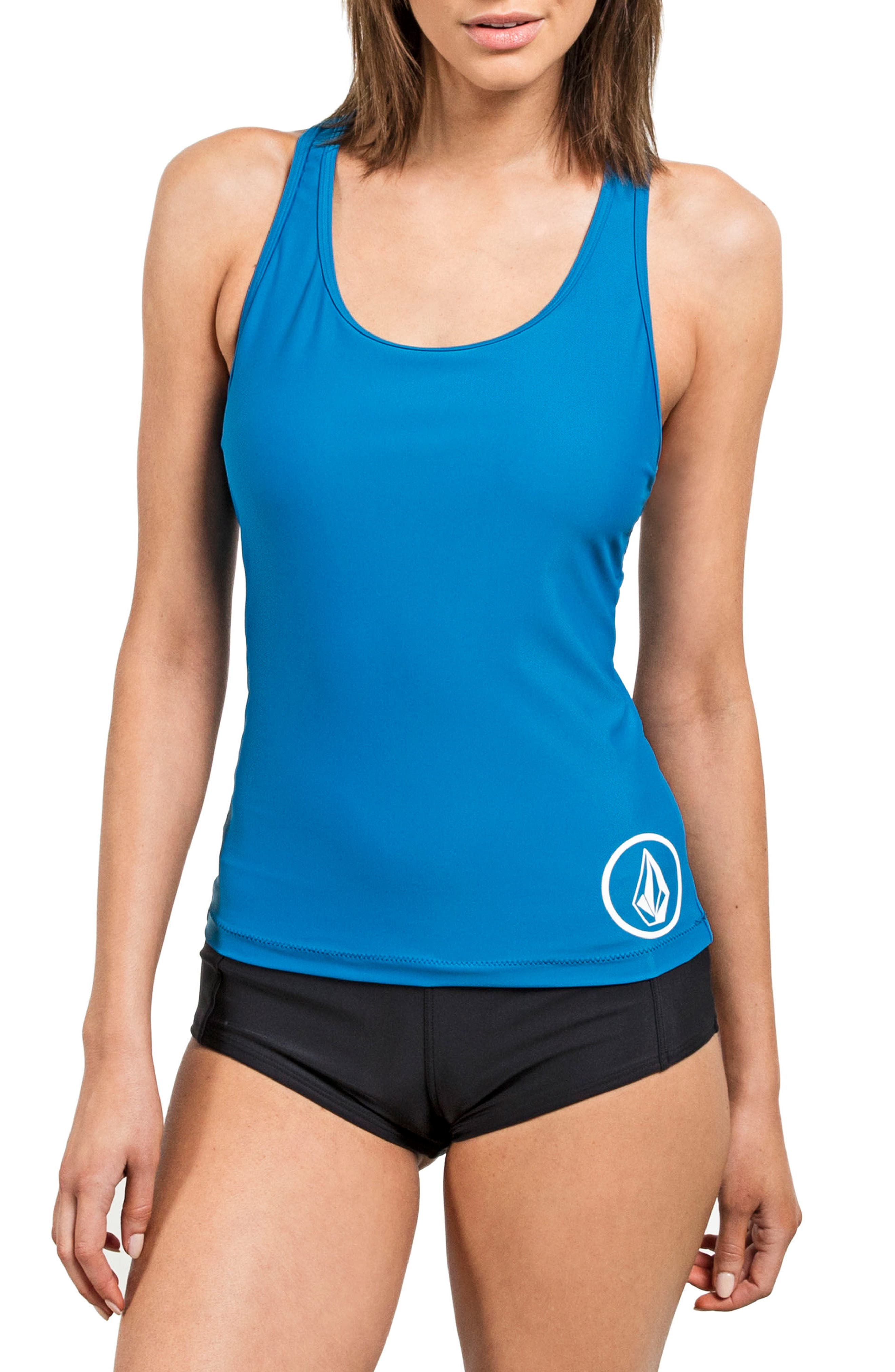Alternate Image 1 Selected - Volcom Simply Solid Tankini Top