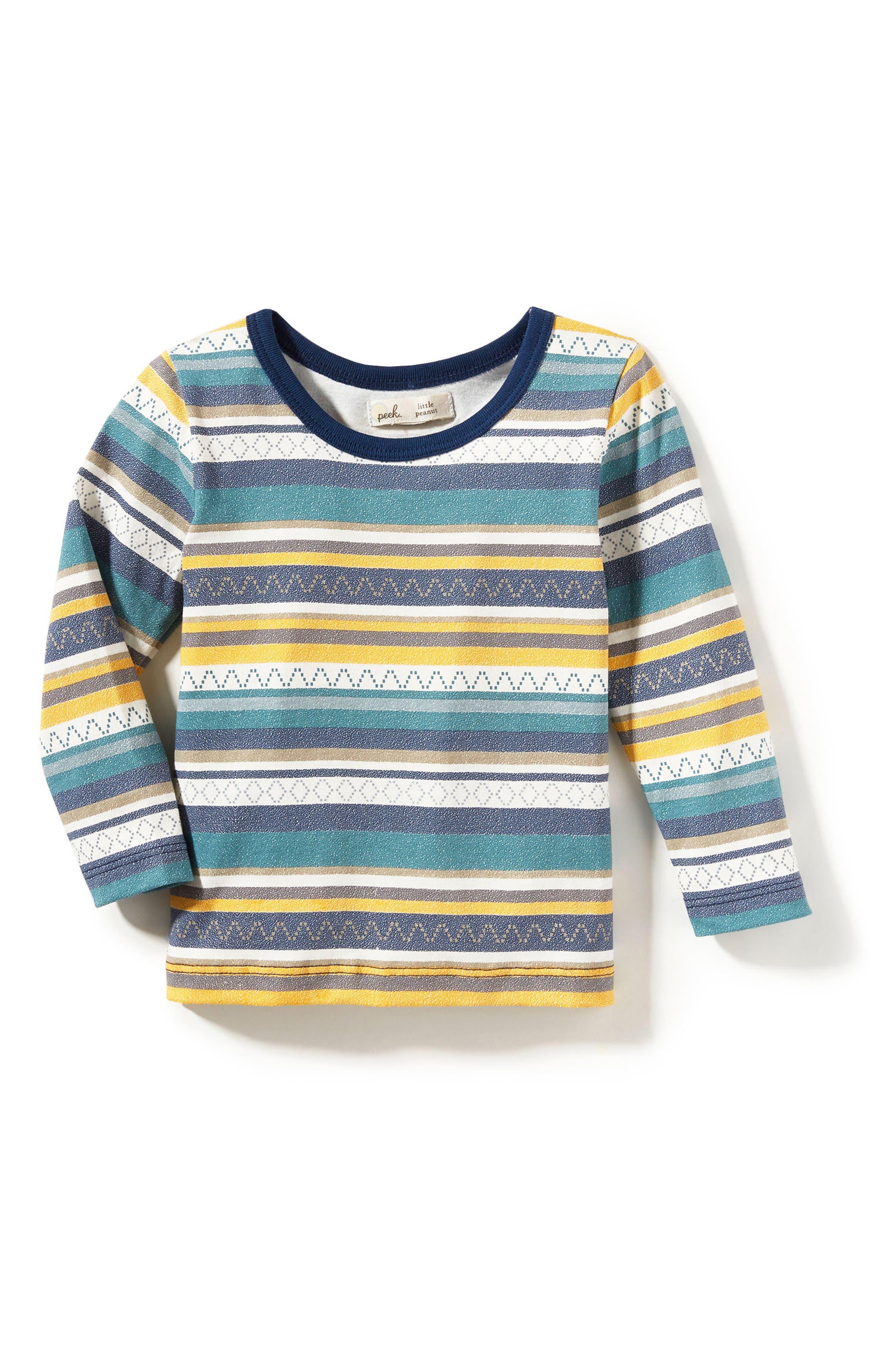 Peek Stripe T-Shirt (Baby Boys)