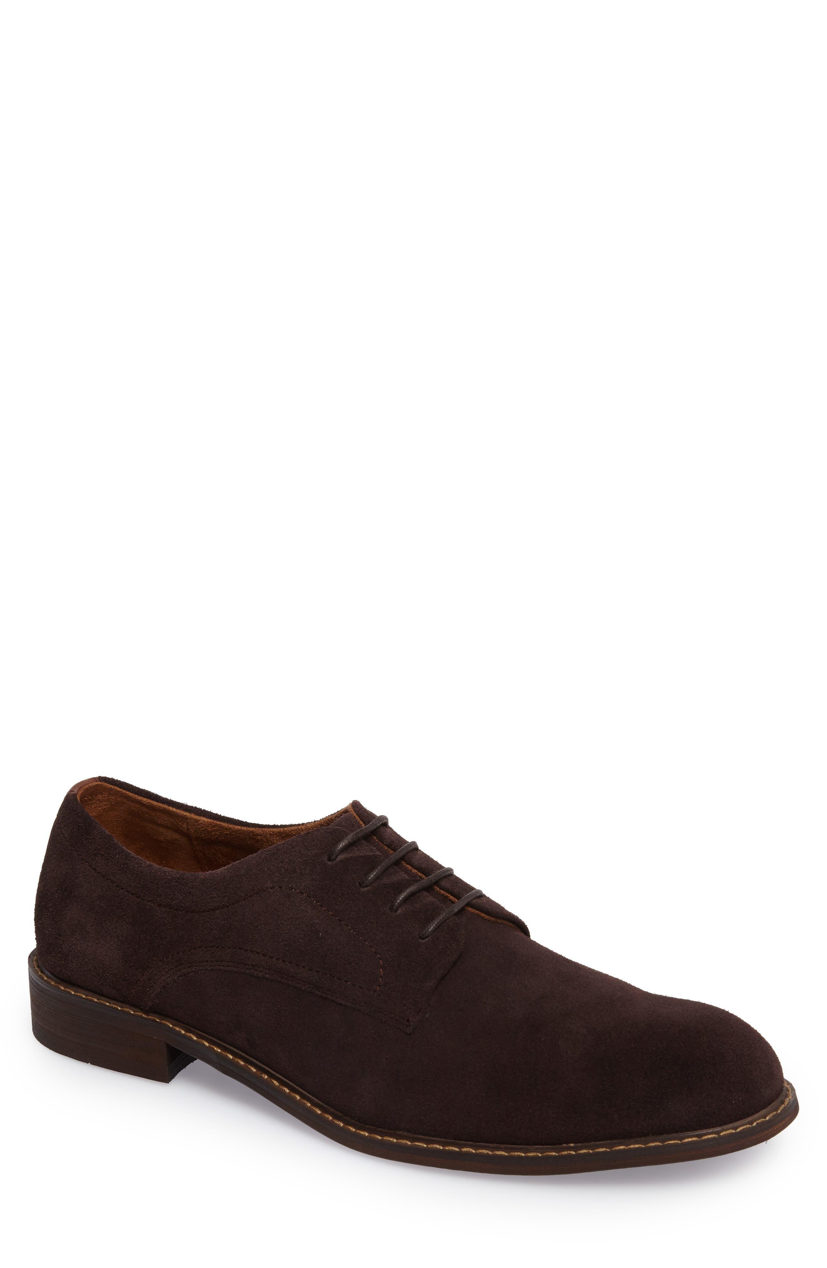 Buck Shoe,                             Main thumbnail 1, color,                             Chocolate Suede